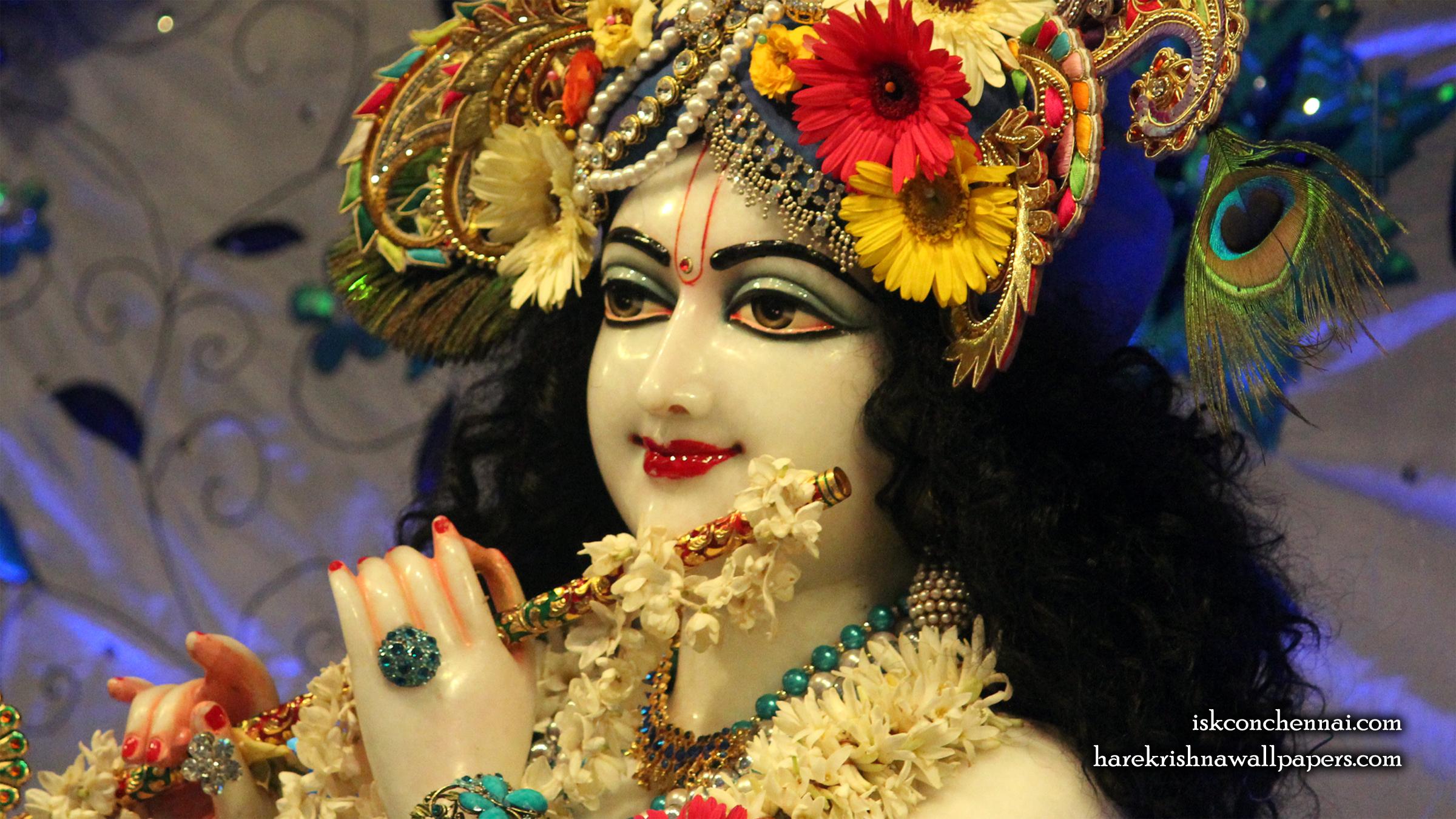 Sri Krishna Close up Wallpaper (019) Size 2400x1350 Download