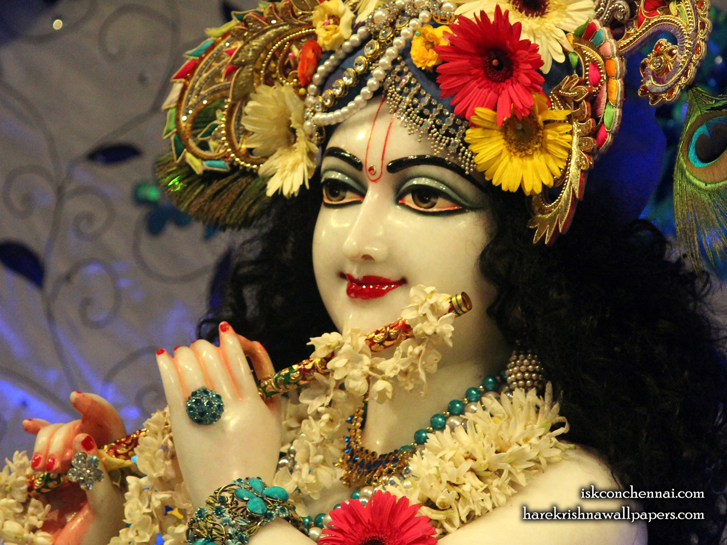 Sri Krishna Close up Wallpaper (019) Size 2400x1800 Download