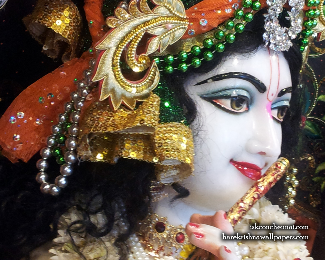 Sri Krishna Close up Wallpaper (020) Size 1280x1024 Download