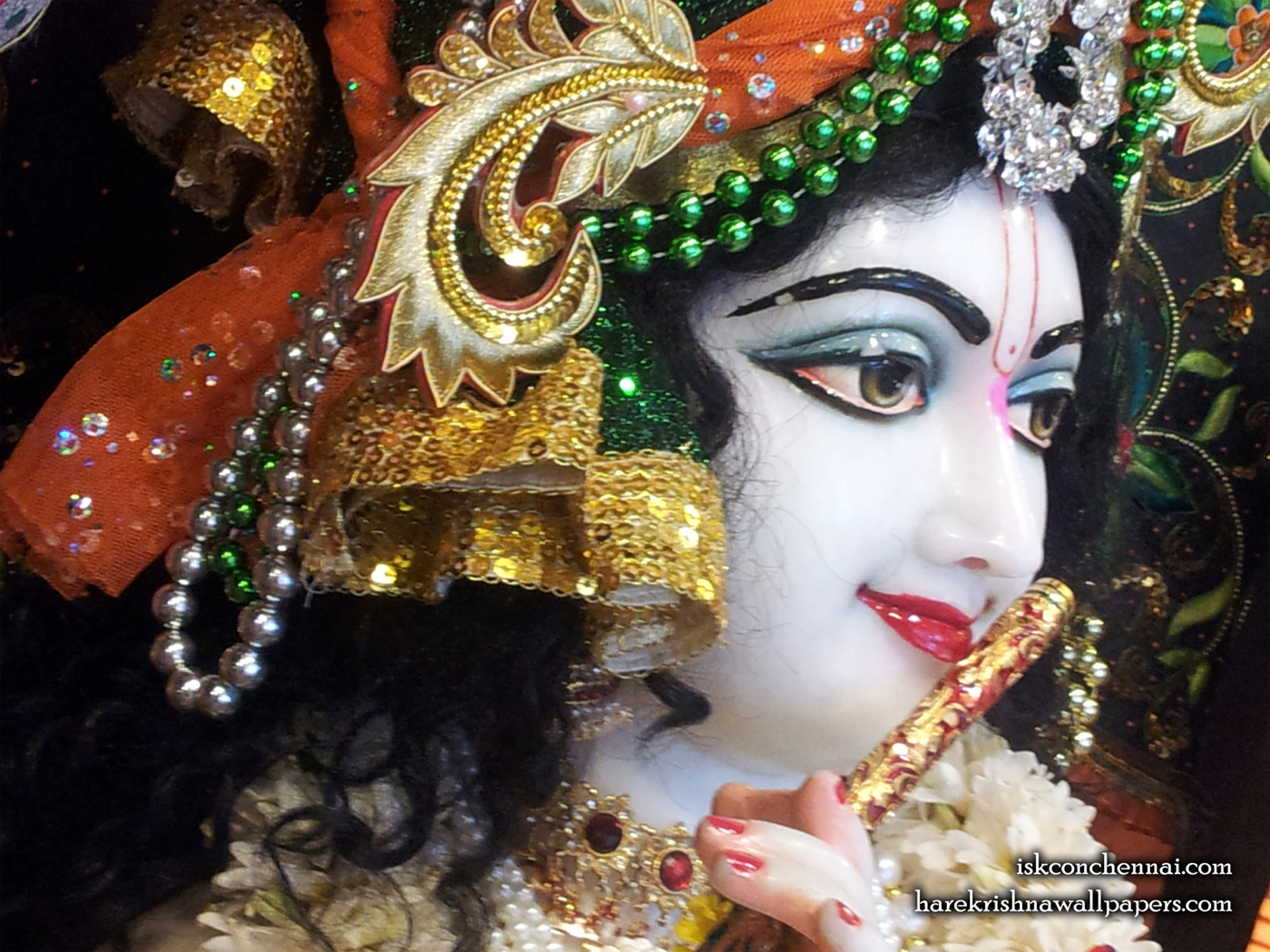 Sri Krishna Close up Wallpaper (020) Size 1400x1050 Download