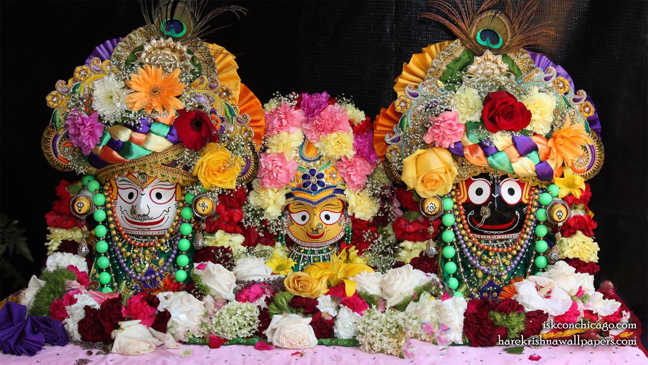 Jagannath Baladeva Subhadra Wallpaper (001) Size 1280x720 Download