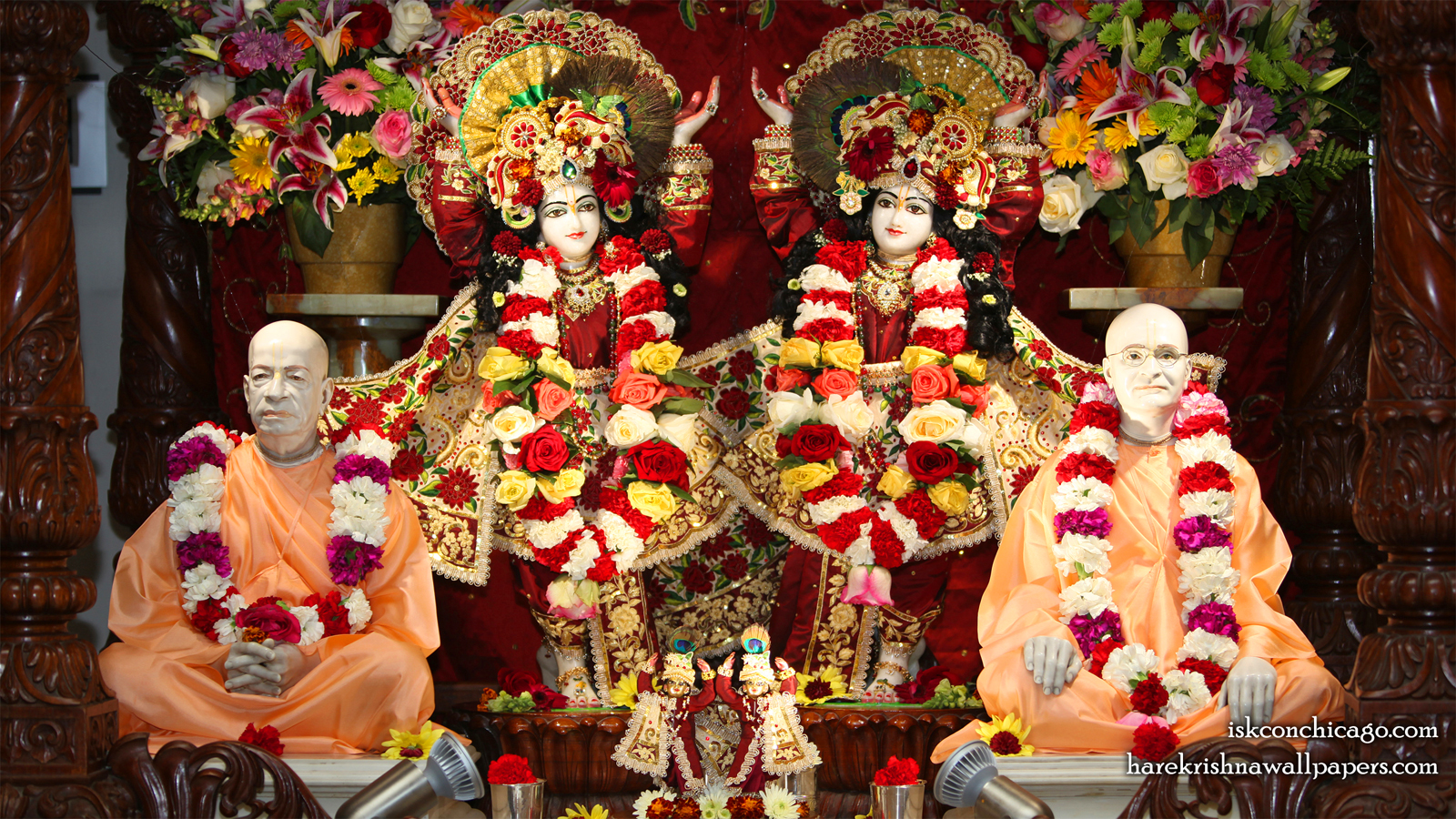 Sri Sri Gaura Nitai with Acharyas Wallpaper (001) Size 1600x900 Download
