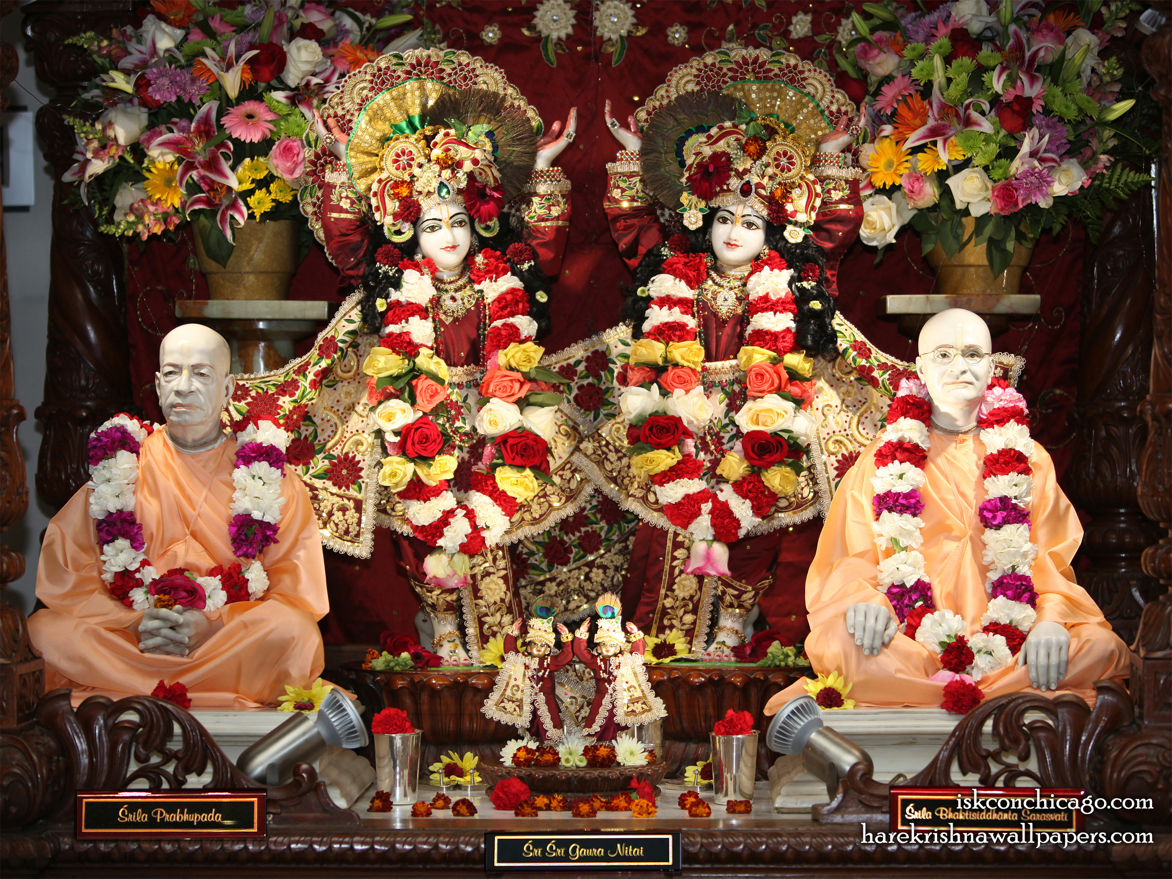 Sri Sri Gaura Nitai with Acharyas Wallpaper (001) Size 2400x1800 Download