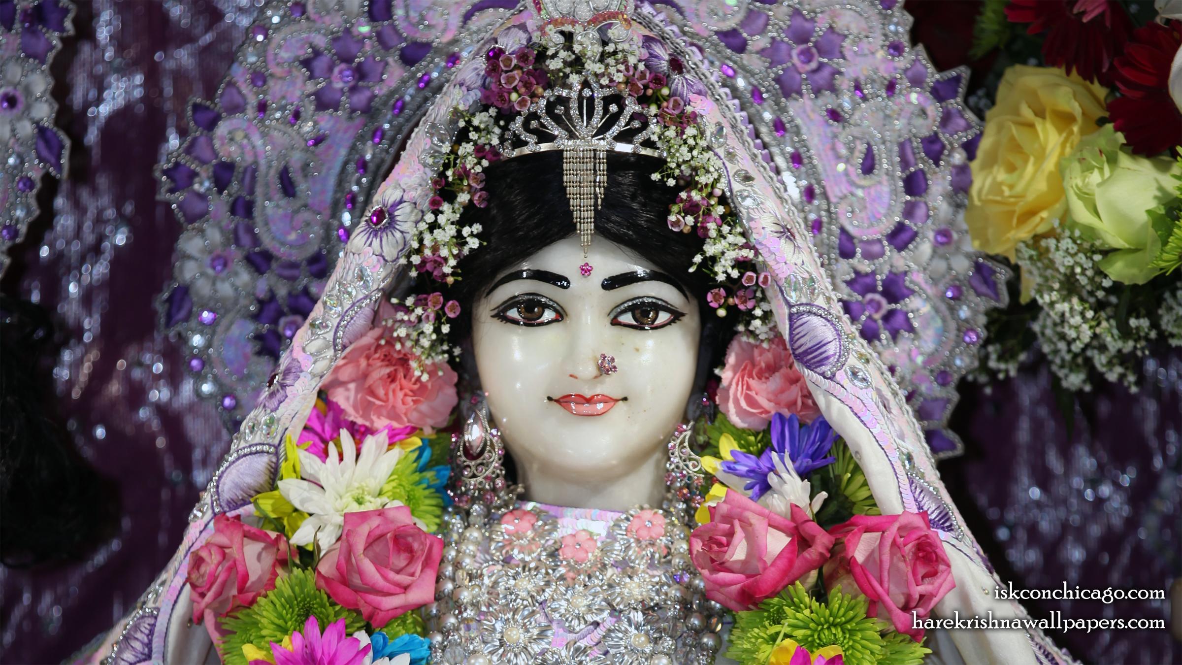 Sri Kishori Close up Wallpaper (002) Size 2400x1350 Download