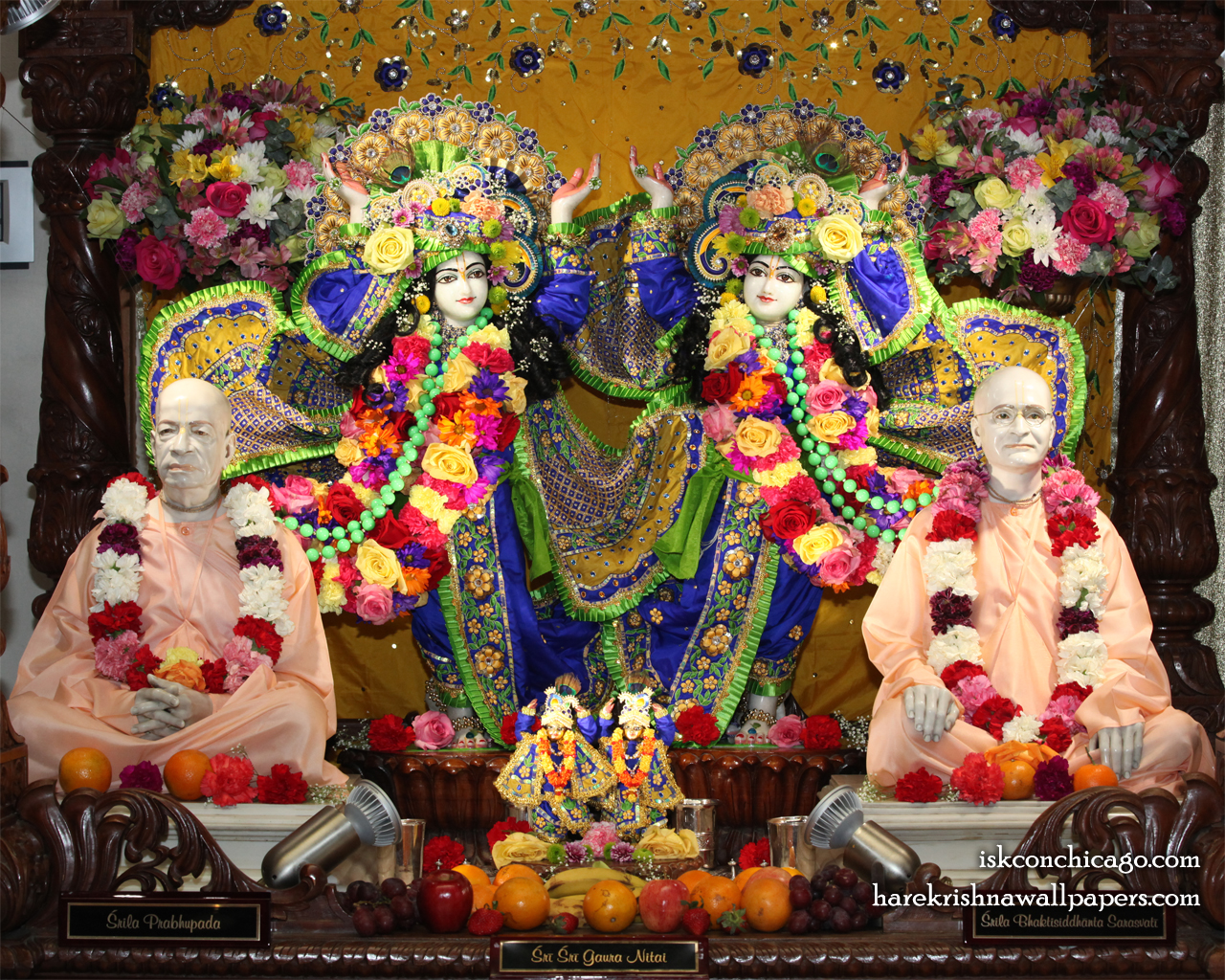 Sri Sri Gaura Nitai with Acharyas Wallpaper (002) Size 1280x1024 Download