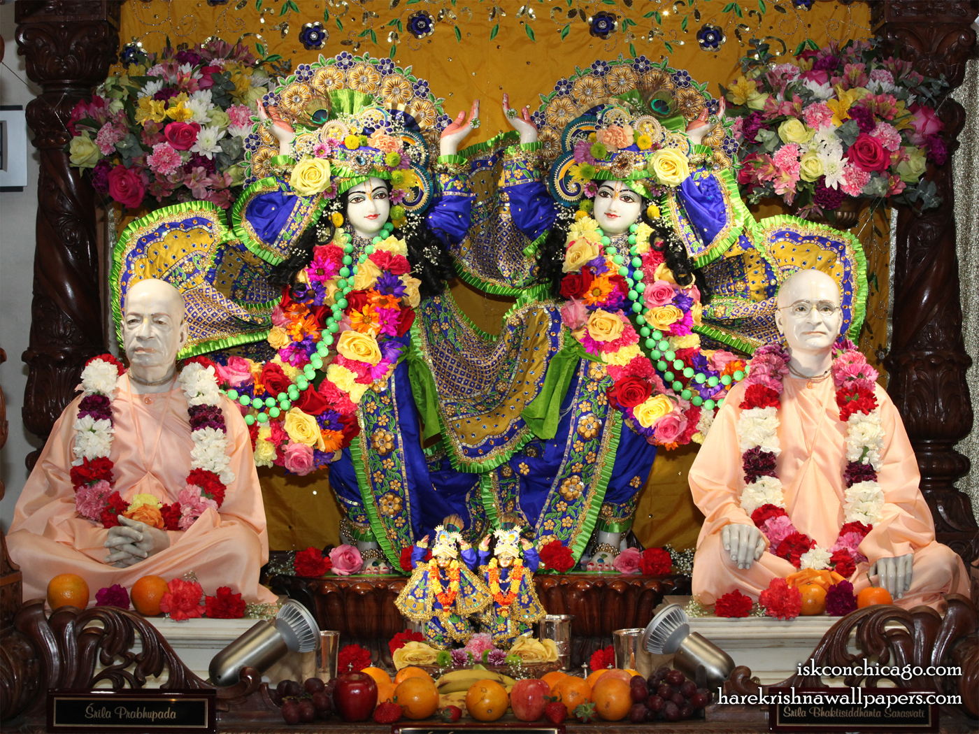 Sri Sri Gaura Nitai with Acharyas Wallpaper (002) Size 1400x1050 Download