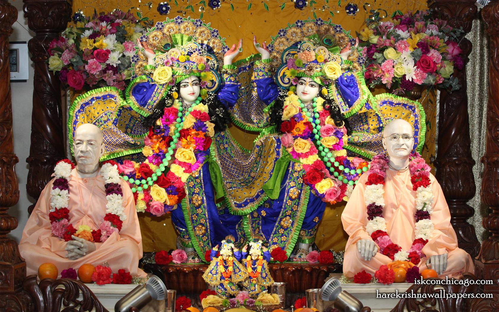 Sri Sri Gaura Nitai with Acharyas Wallpaper (002) Size 1680x1050 Download