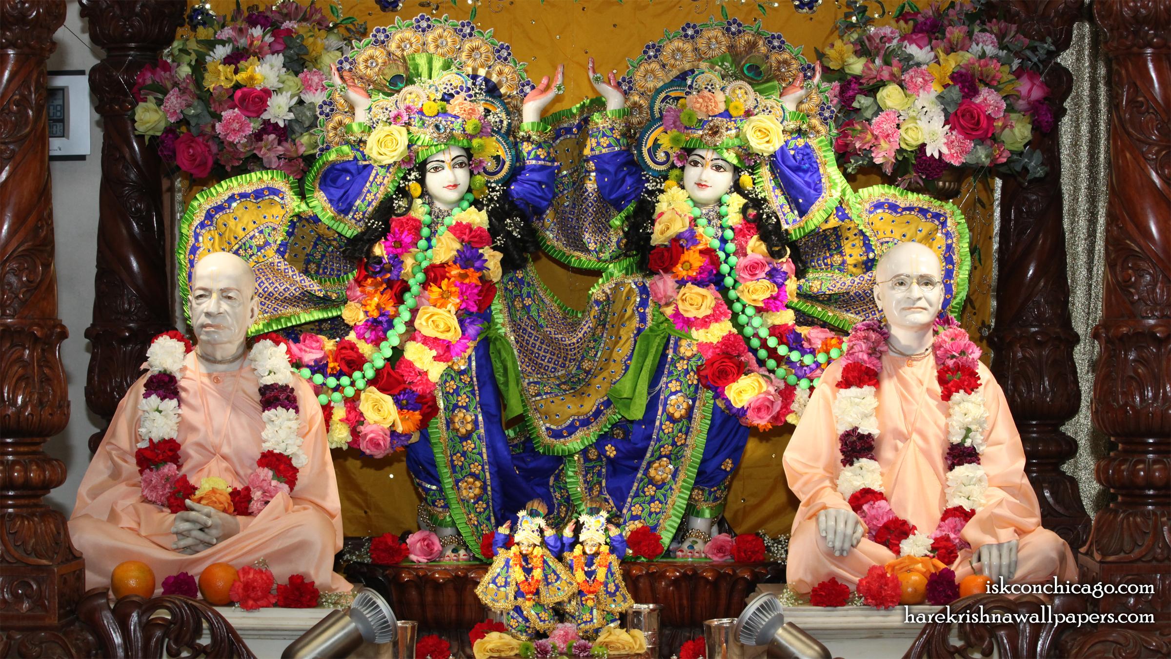 Sri Sri Gaura Nitai with Acharyas Wallpaper (002) Size 2400x1350 Download