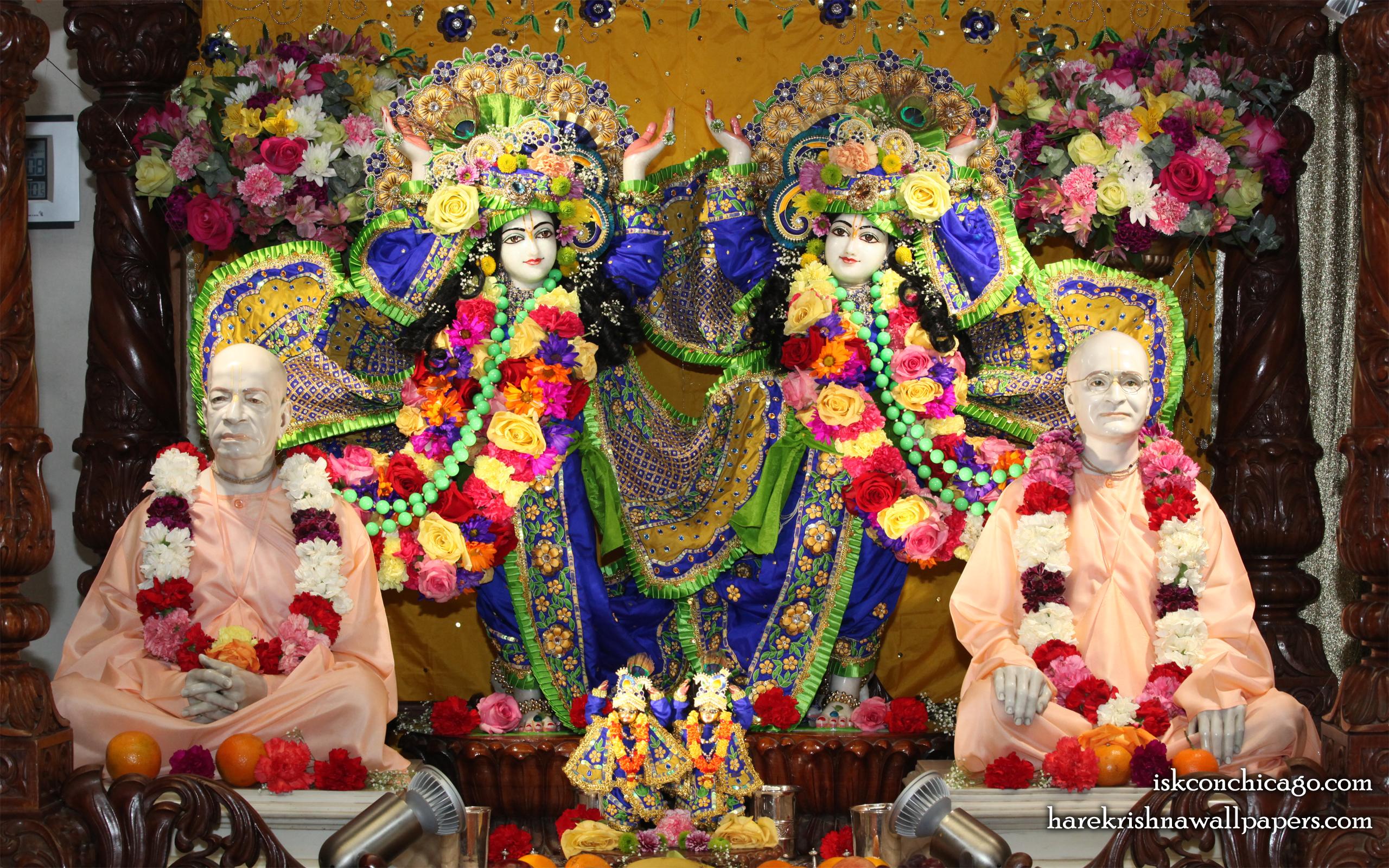 Sri Sri Gaura Nitai with Acharyas Wallpaper (002) Size 2560x1600 Download