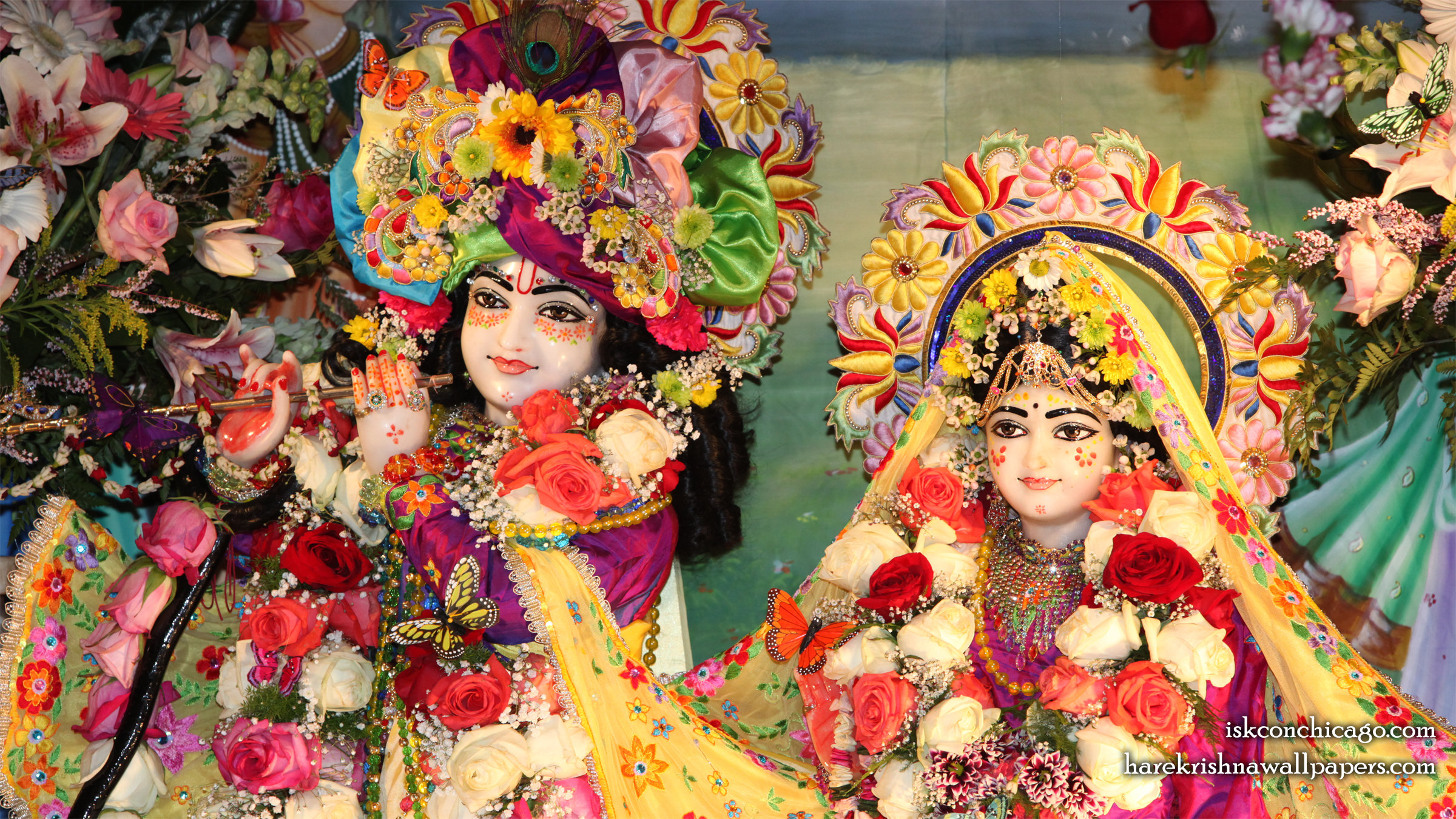 Sri Sri Kishore Kishori Close up Wallpaper (002) Size 2400x1350 Download