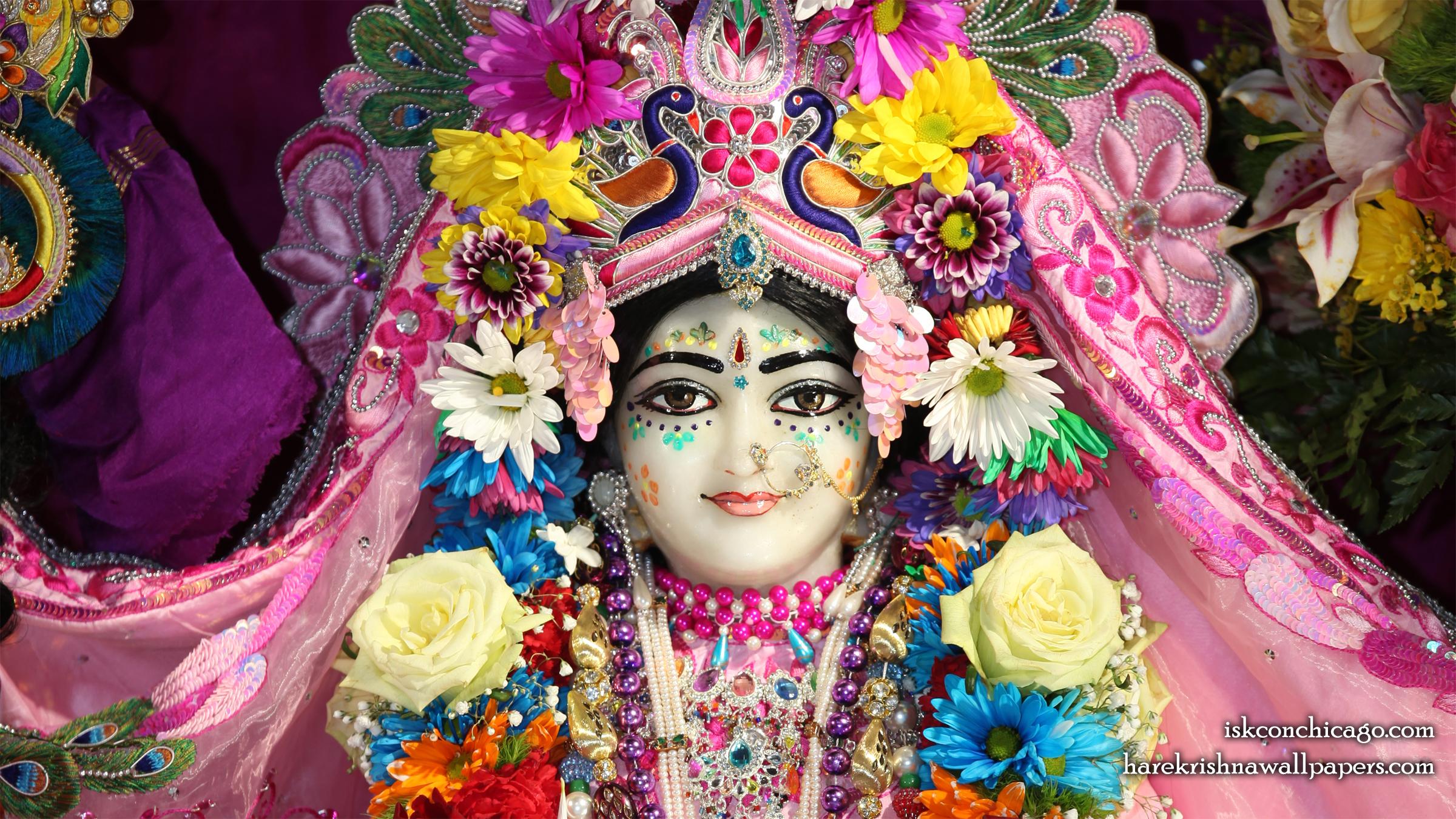 Sri Kishori Close up Wallpaper (003) Size 2400x1350 Download