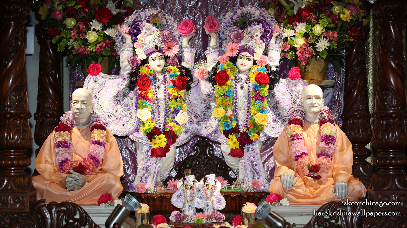 Sri Sri Gaura Nitai with Acharyas Wallpaper (003) Size 1600x900 Download