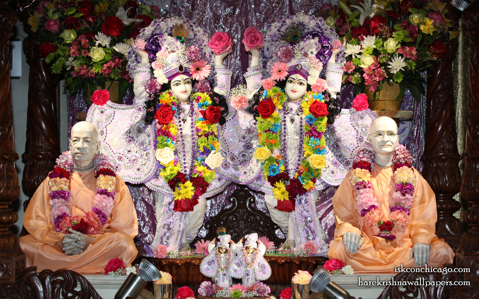 Sri Sri Gaura Nitai with Acharyas Wallpaper (003) Size 1680x1050 Download