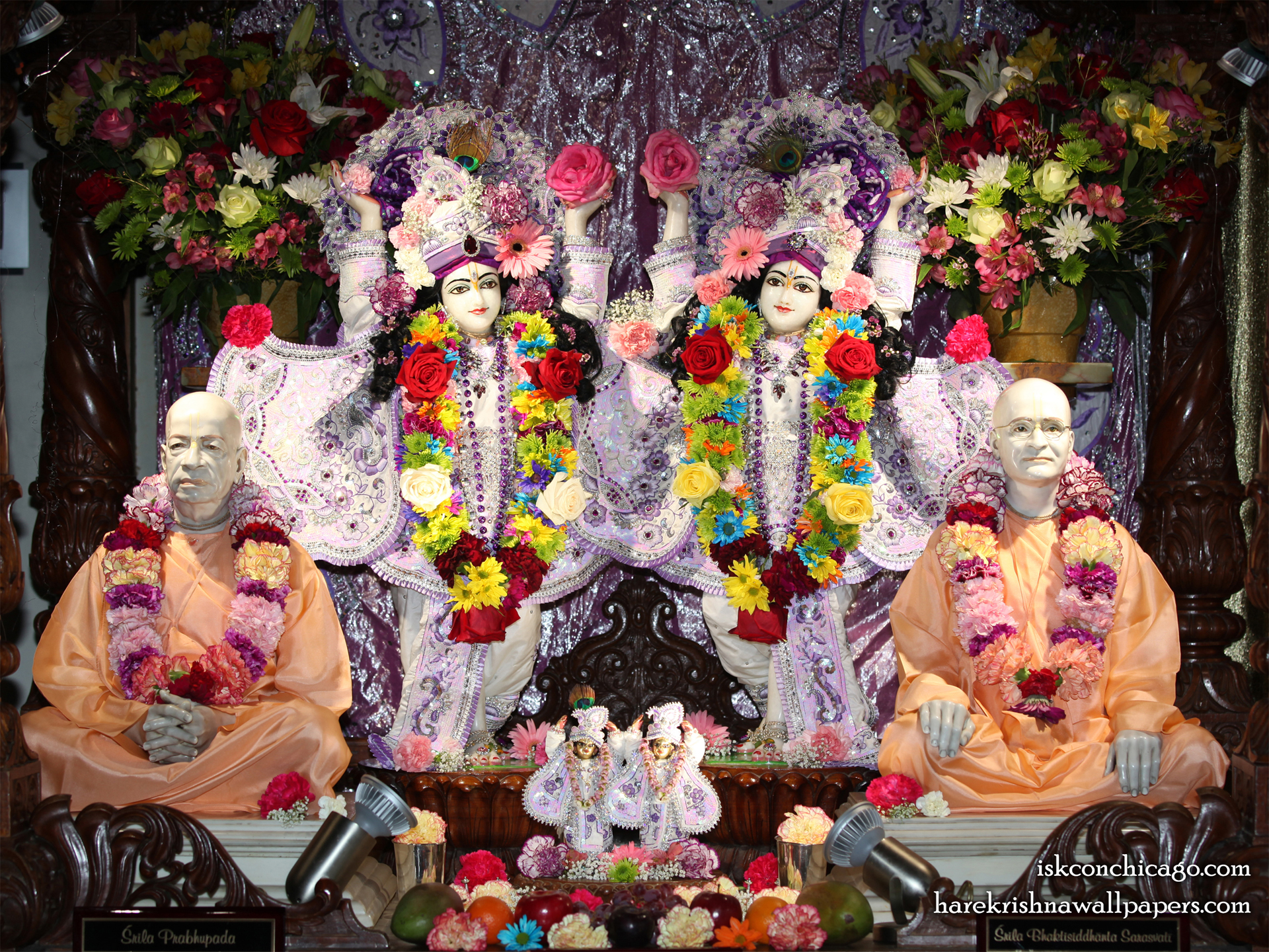 Sri Sri Gaura Nitai with Acharyas Wallpaper (003) Size 1920x1440 Download