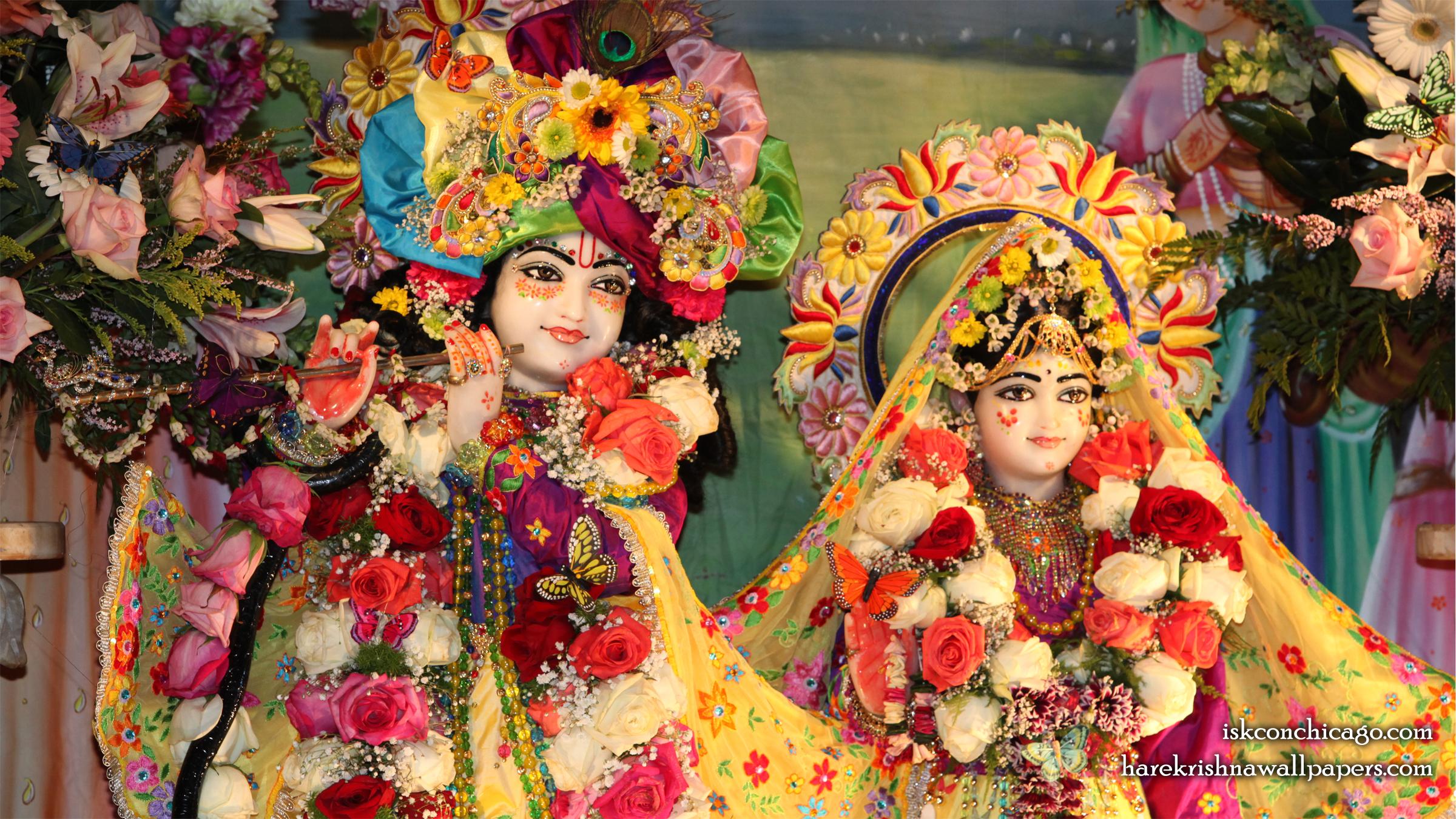 Sri Sri Kishore Kishori Close up Wallpaper (003) Size 2400x1350 Download