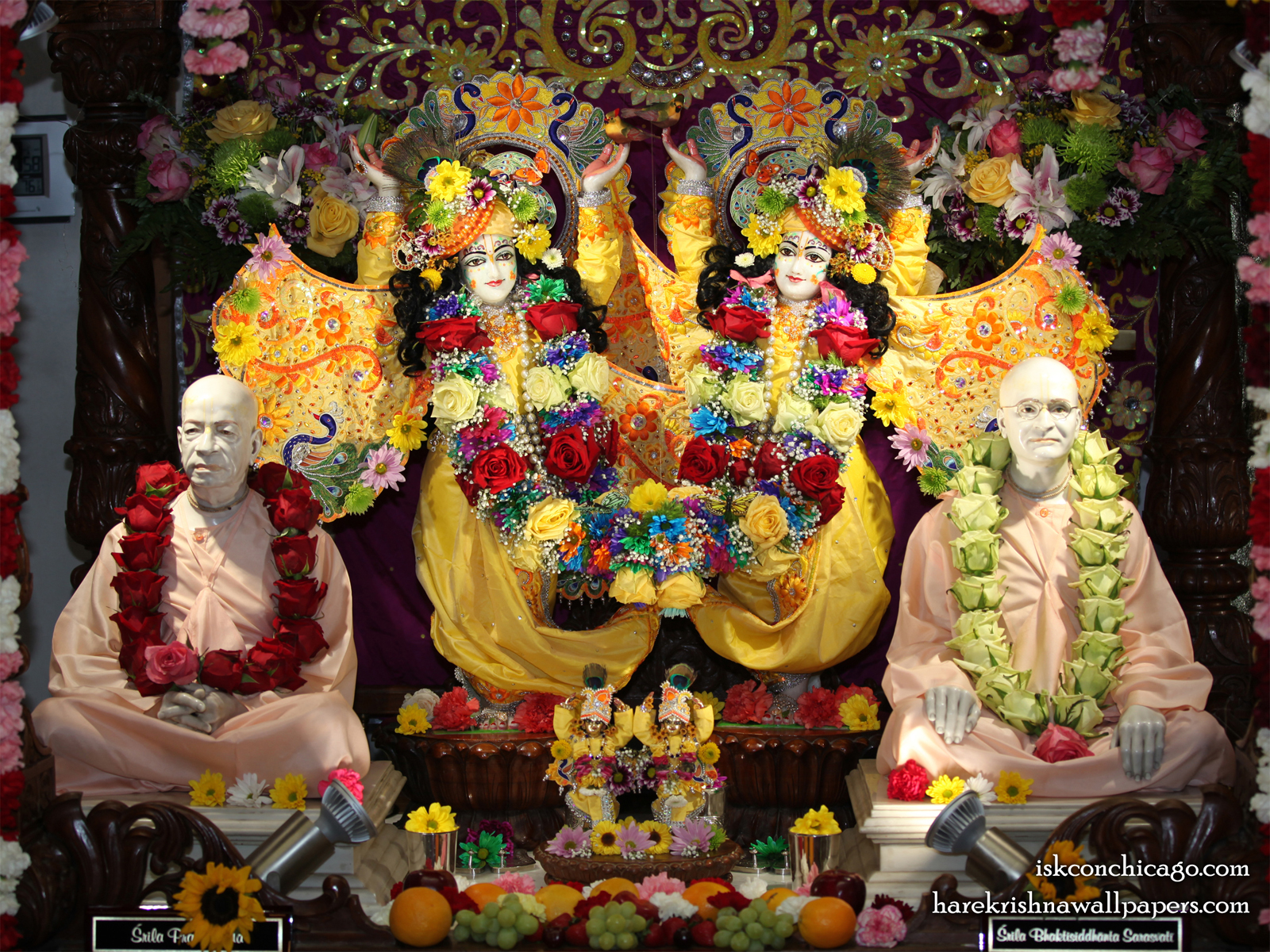 Sri Sri Gaura Nitai with Acharyas Wallpaper (004) Size1600x1200 Download