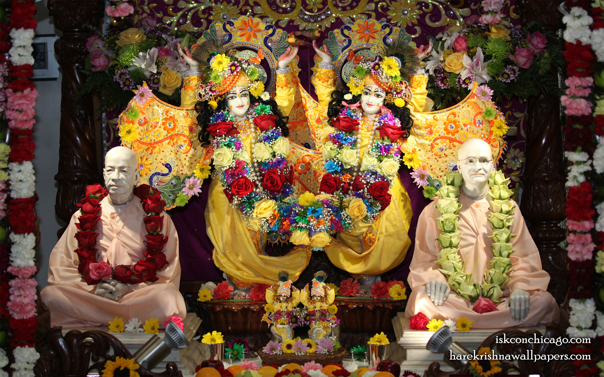 Sri Sri Gaura Nitai with Acharyas Wallpaper (004) Size 1920x1200 Download