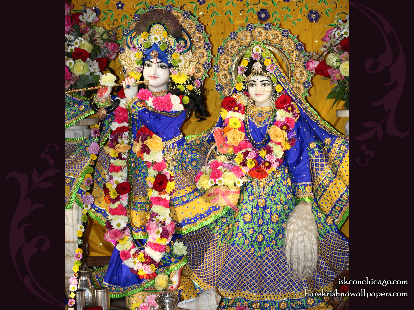Sri Sri Kishore Kishori Wallpaper (004) Size 1400x1050 Download