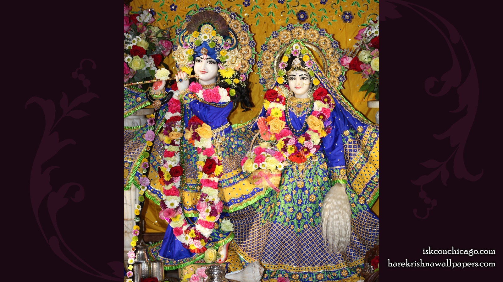 Sri Sri Kishore Kishori Wallpaper (004) Size 1600x900 Download