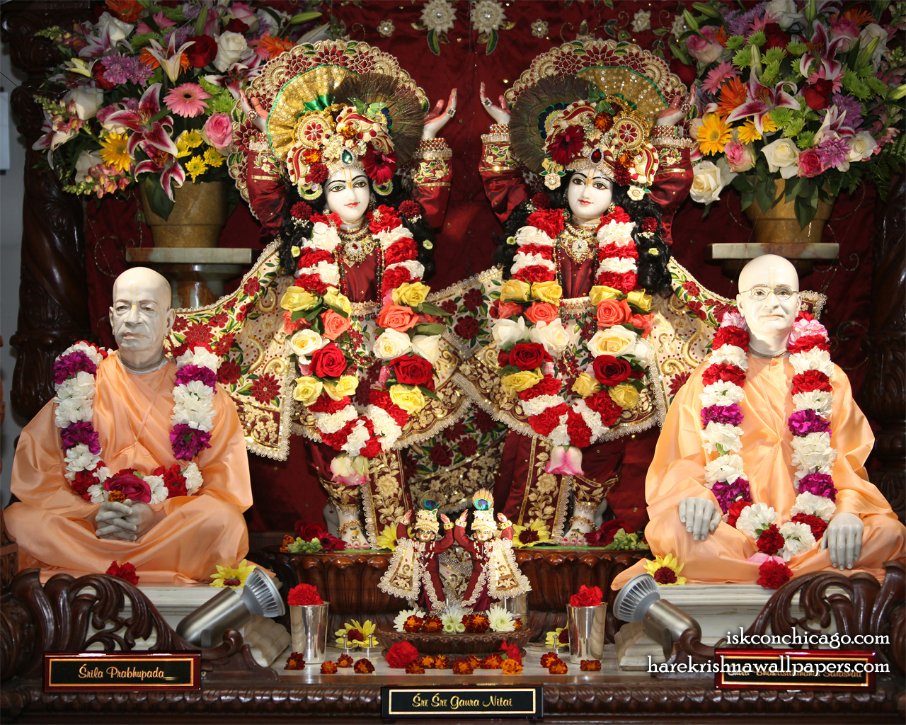 Sri Sri Gaura Nitai with Acharyas Wallpaper (005) Size 1280x1024 Download