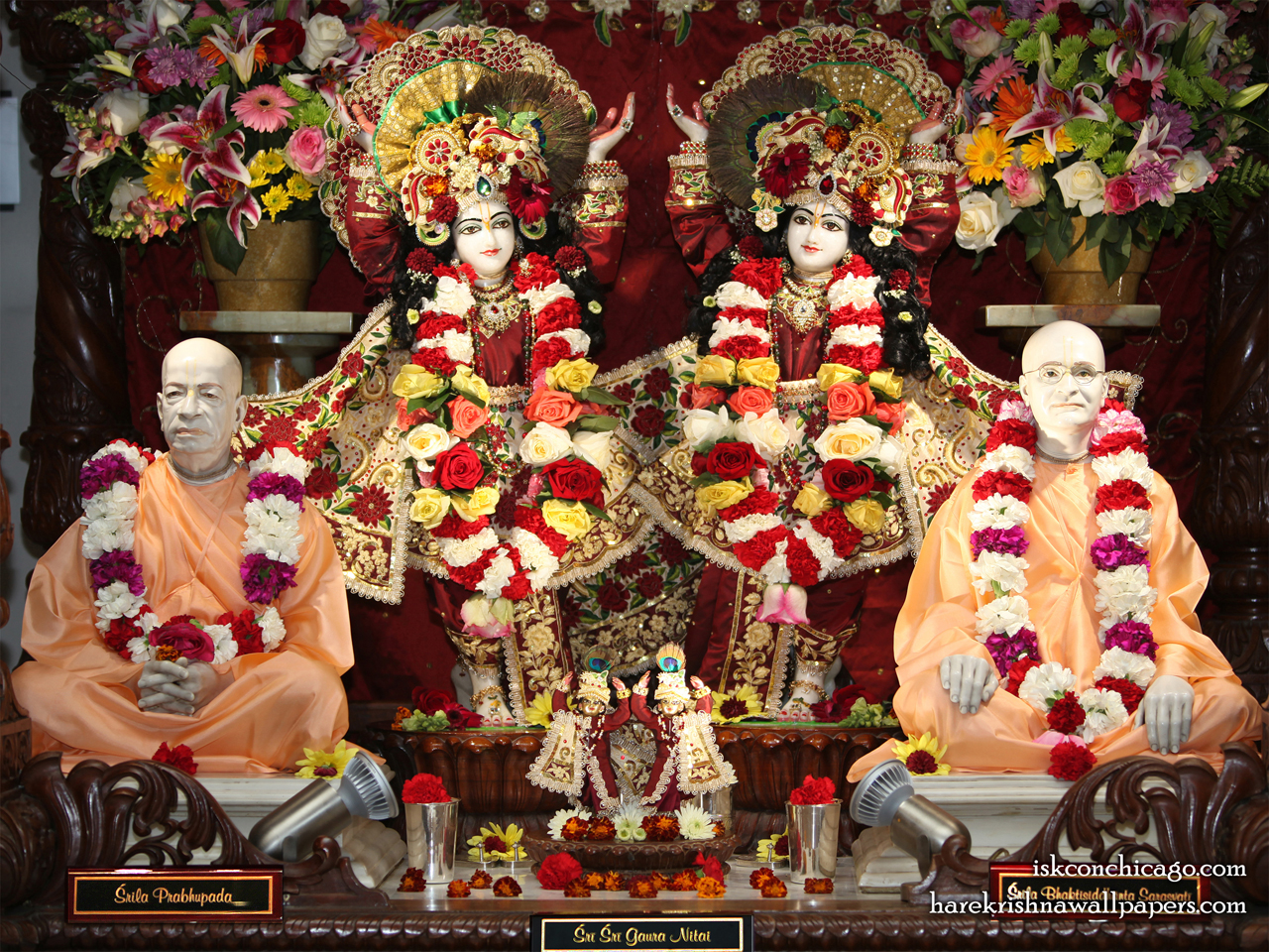 Sri Sri Gaura Nitai with Acharyas Wallpaper (005) Size 1280x960 Download