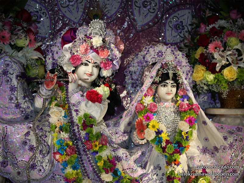 Sri Sri Kishore Kishori Close up Wallpaper (010)