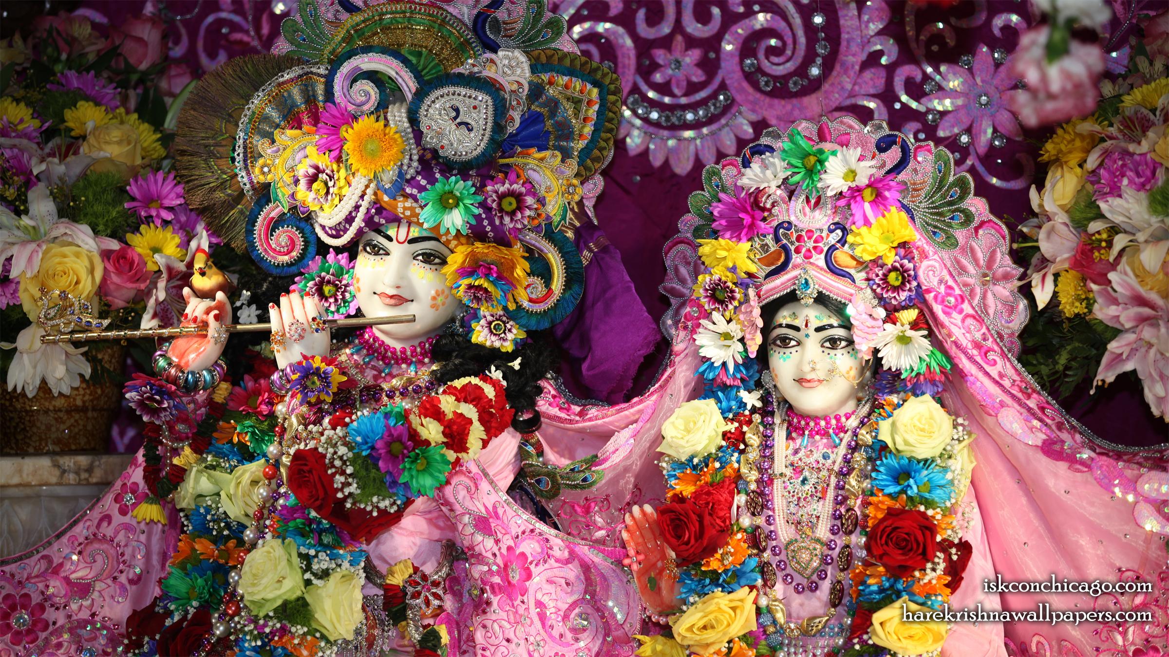 Sri Sri Kishore Kishori Close up Wallpaper (018) Size 2400x1350 Download