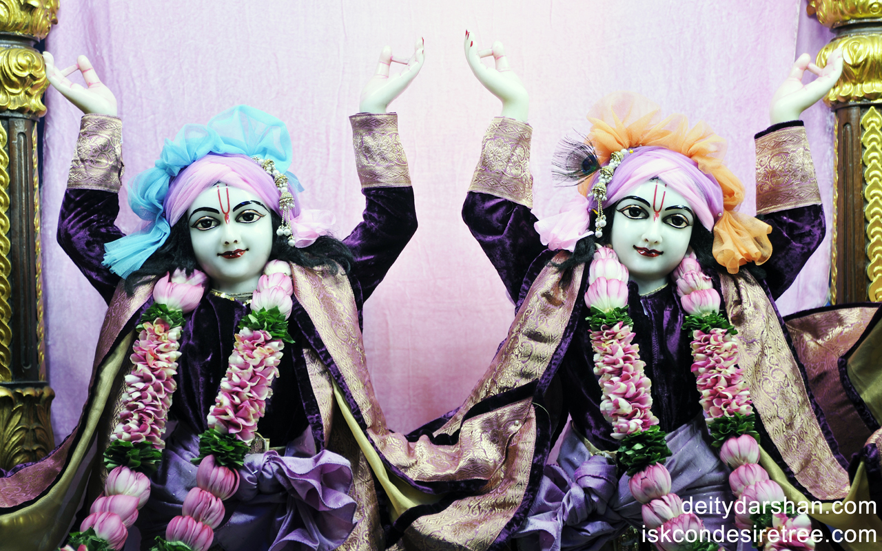 Sri Sri Nitai Gaurachandra Close up Wallpaper (001) Size 1280x800 Download
