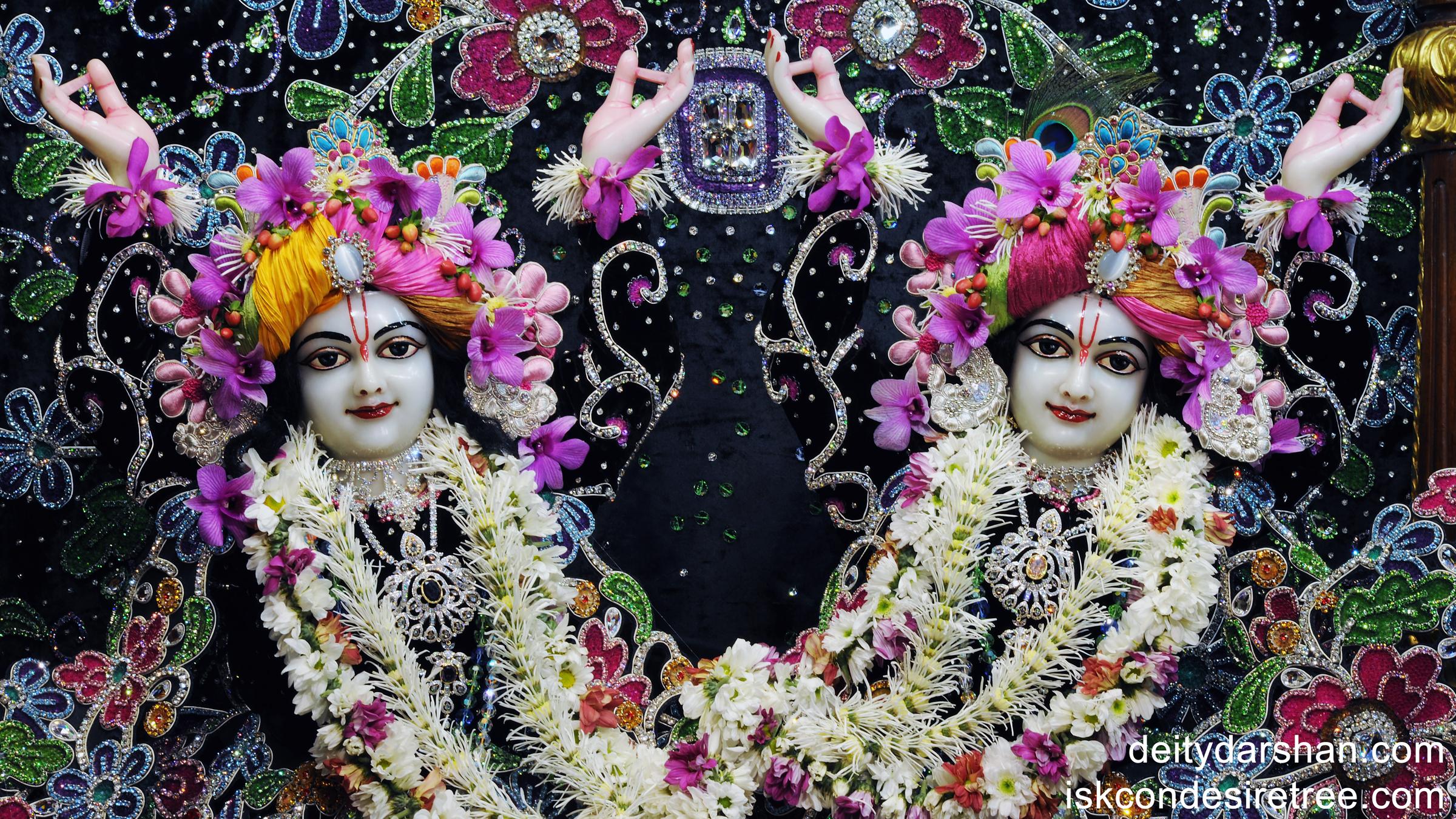 Sri Sri Nitai Gaurachandra Close up Wallpaper (003) Size 2400x1350 Download