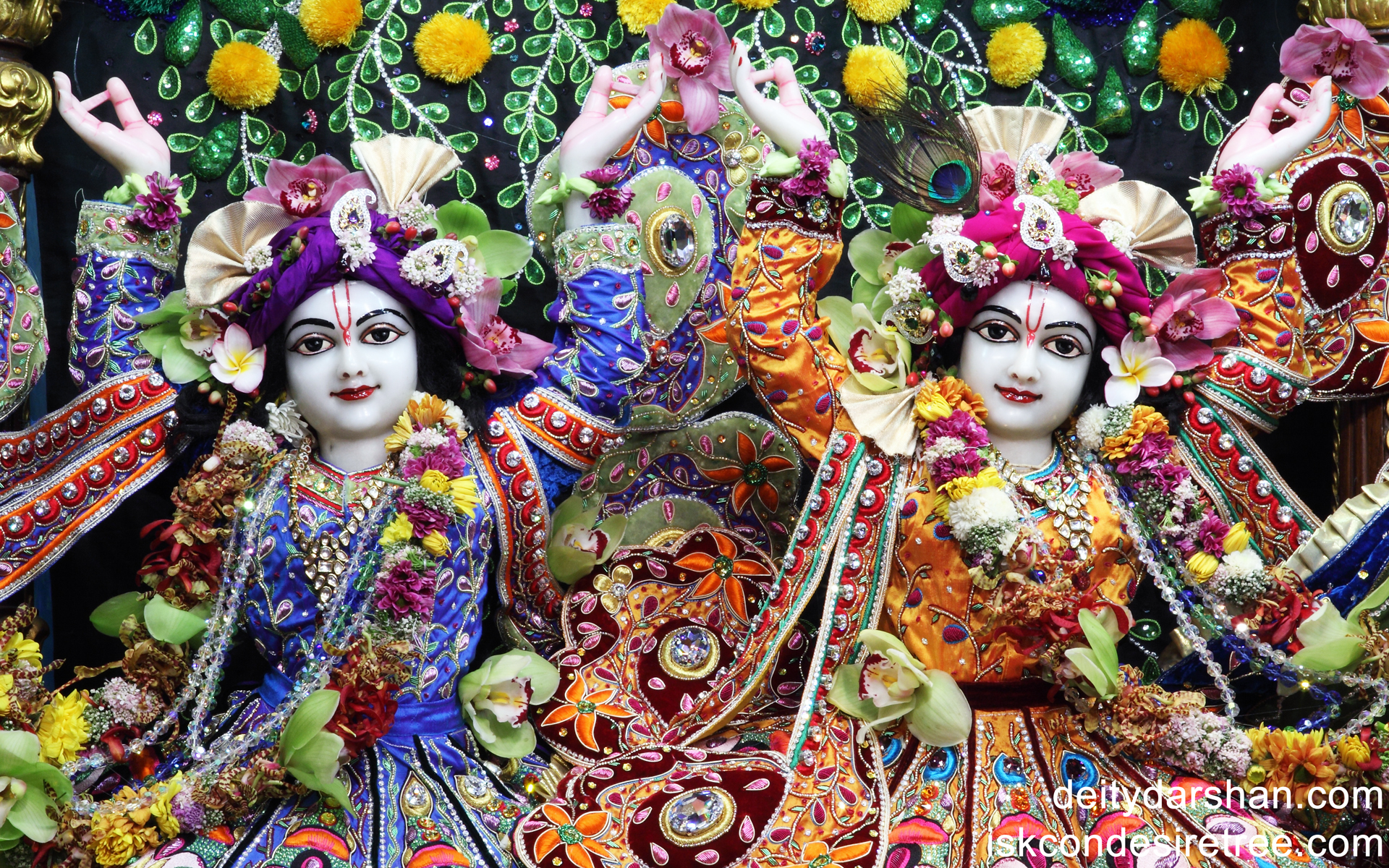 Sri Sri Nitai Gaurachandra Close up Wallpaper (005) Size 1920x1200 Download