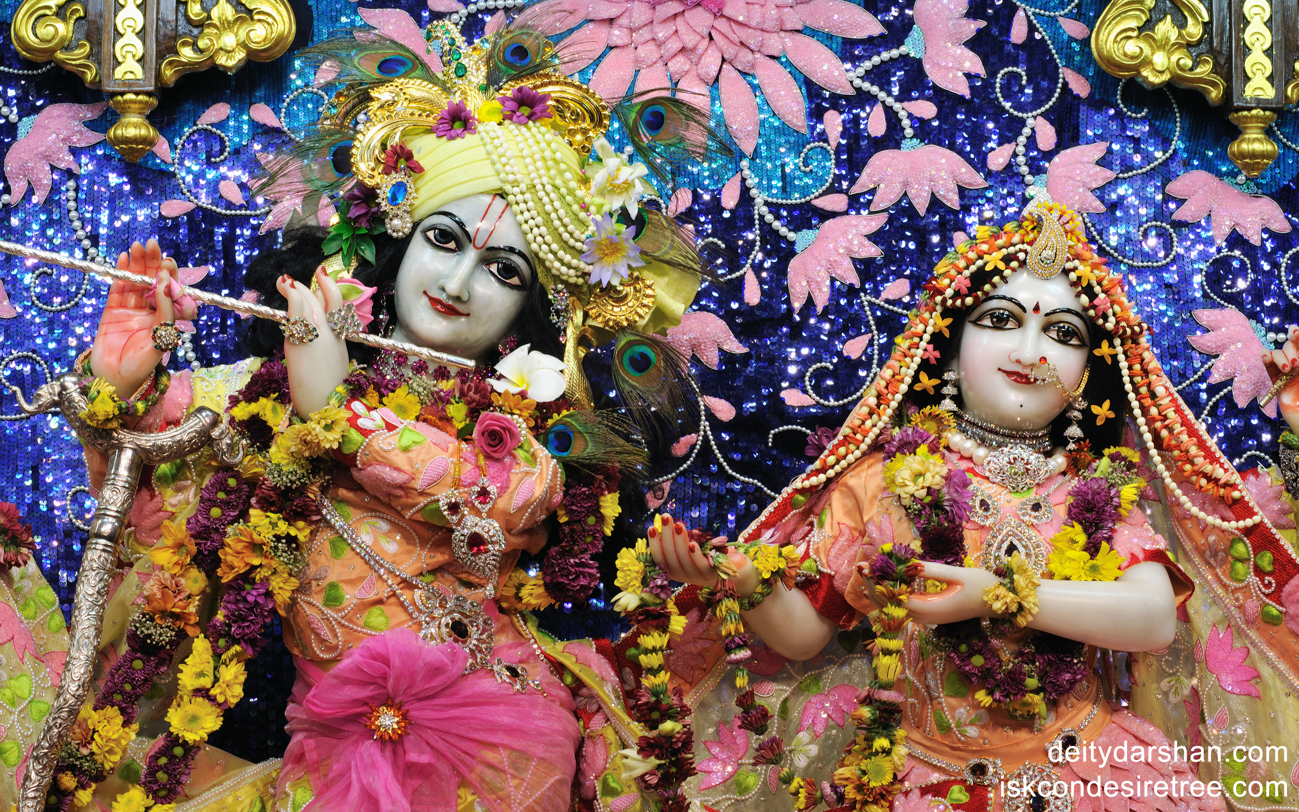 Sri Sri Radha Gopinath Close up Wallpaper (011) Size 2560x1600 Download