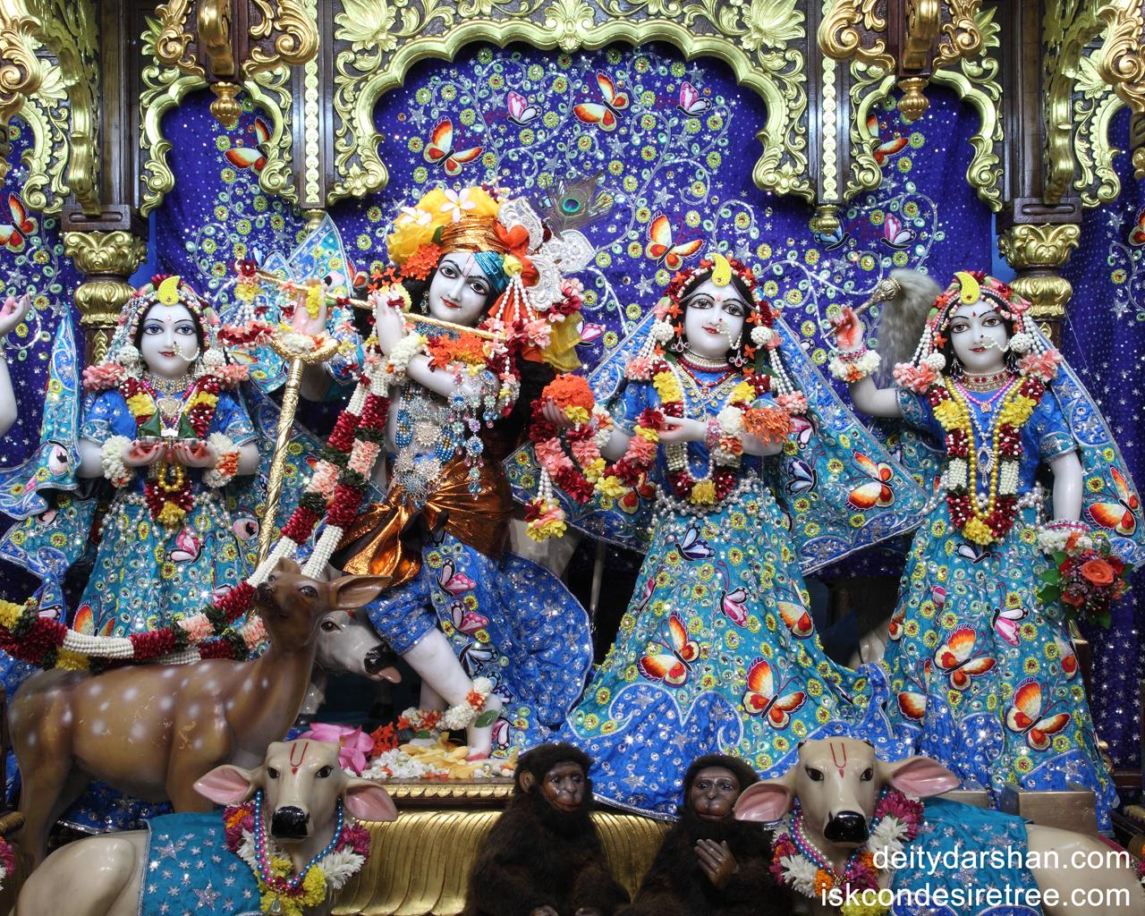 Sri Sri Radha Gopinath Lalita Vishakha Wallpaper (011) Size 1280x1024 Download