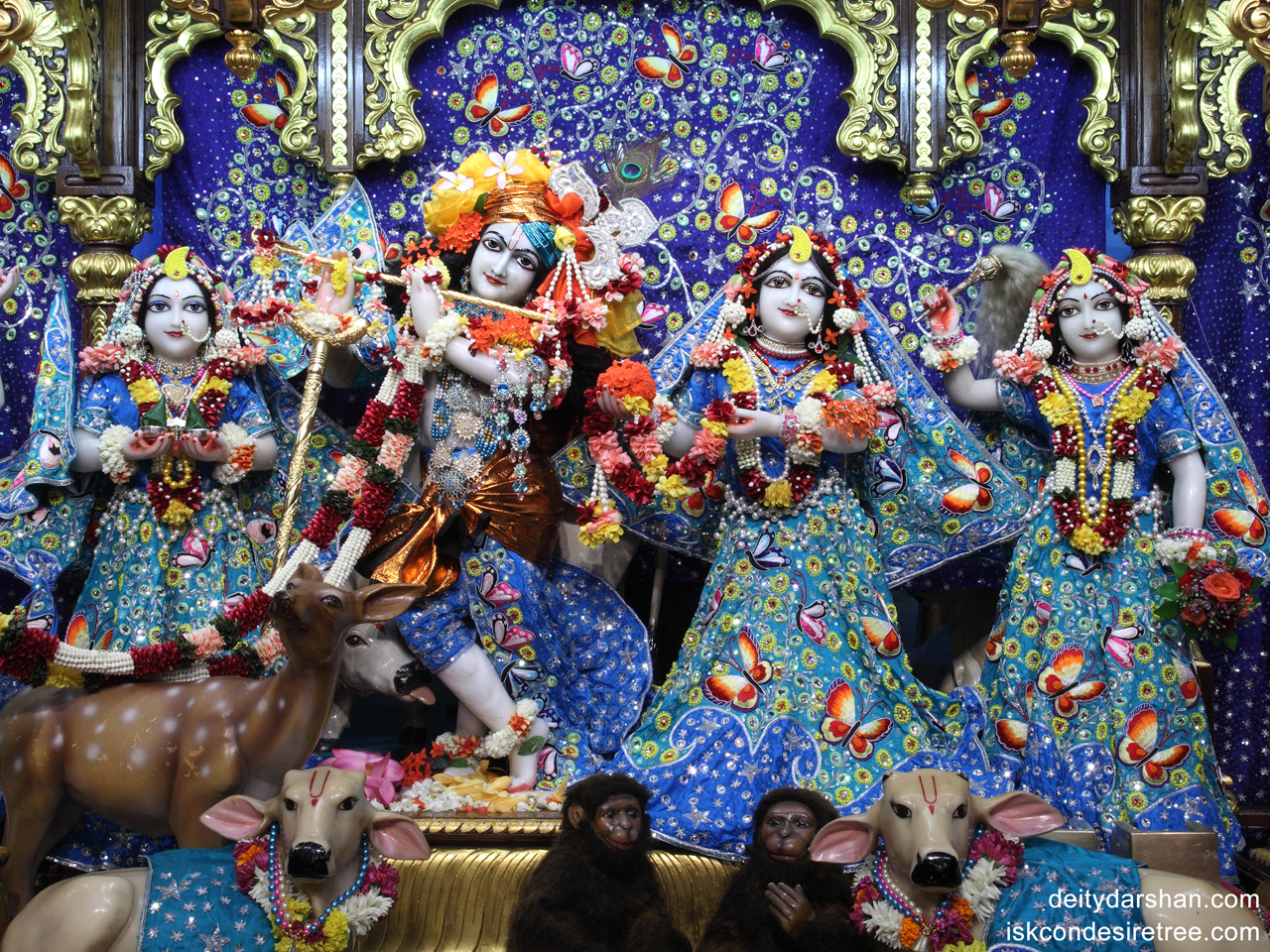Sri Sri Radha Gopinath Lalita Vishakha Wallpaper (011) Size 1280x960 Download