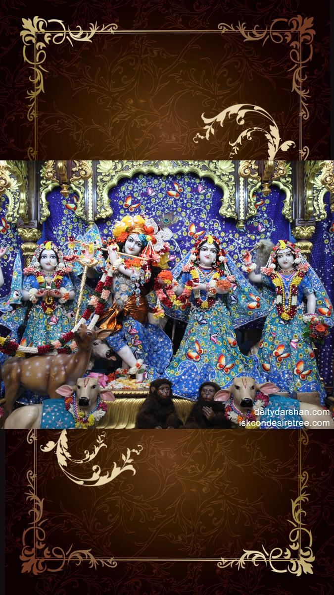 Sri Sri Radha Gopinath Lalita Vishakha Wallpaper (011) Size 675x1200 Download