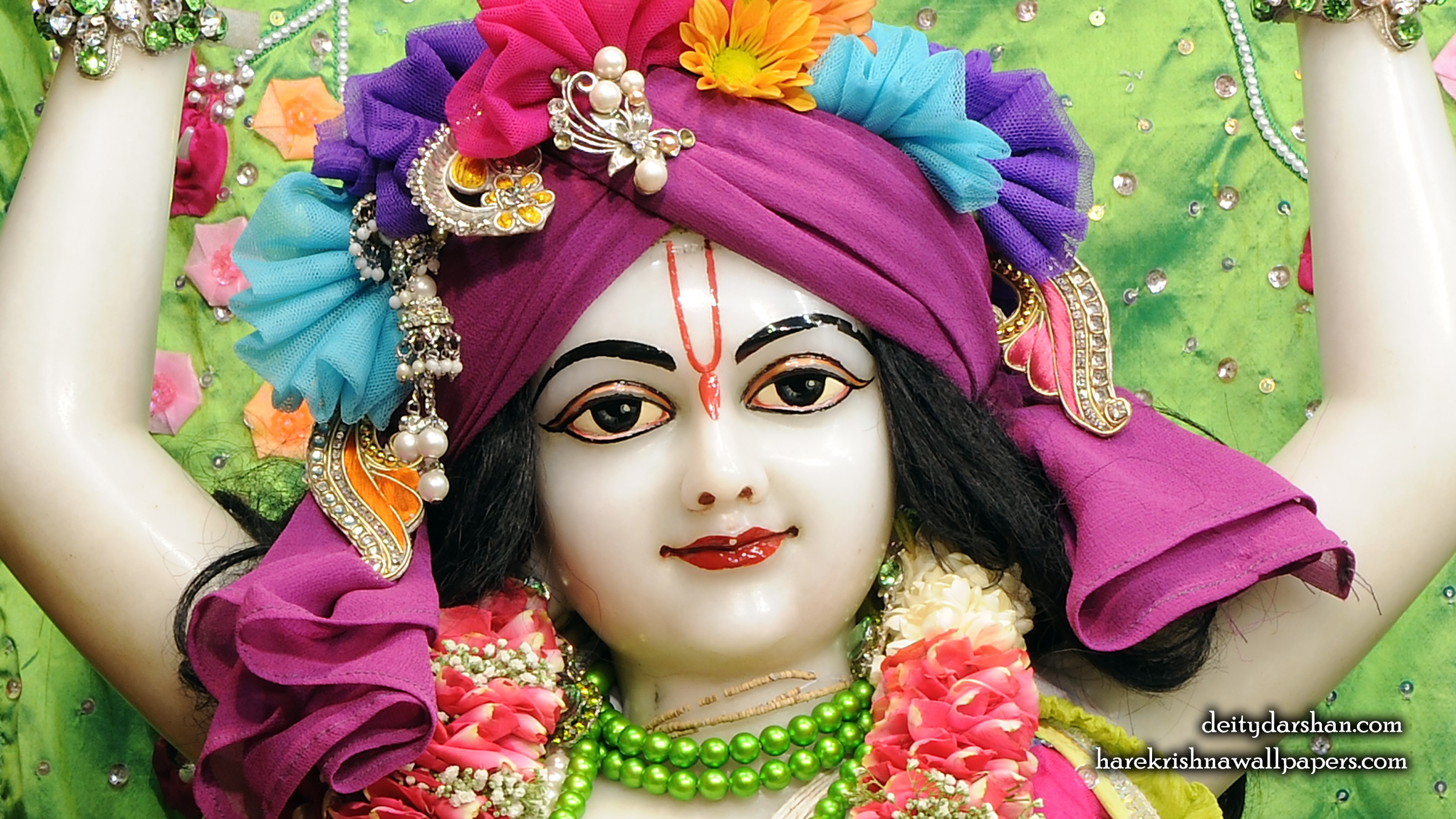 Sri Nitai Close up Wallpaper (015) Size 2400x1350 Download