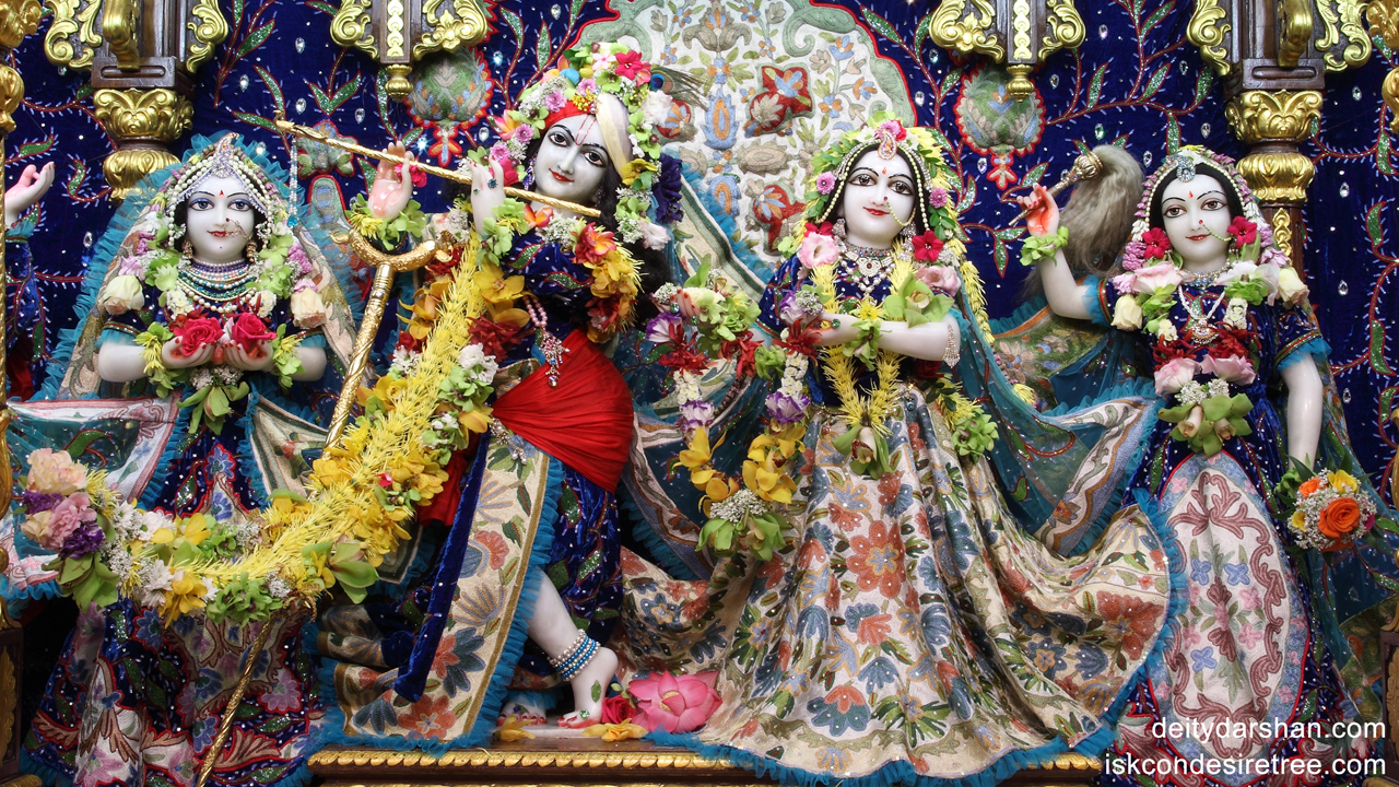 Sri Sri Radha Gopinath Lalita Vishakha Wallpaper (018) Size1280x720 Download