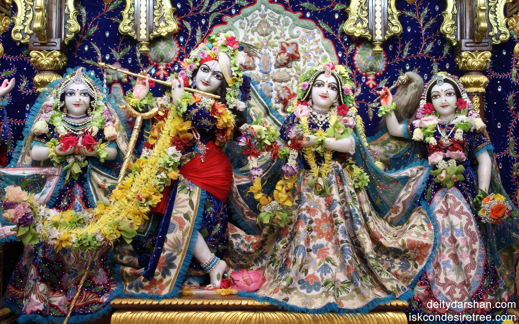 Sri Sri Radha Gopinath Lalita Vishakha Wallpaper (018) Size 1680x1050 Download