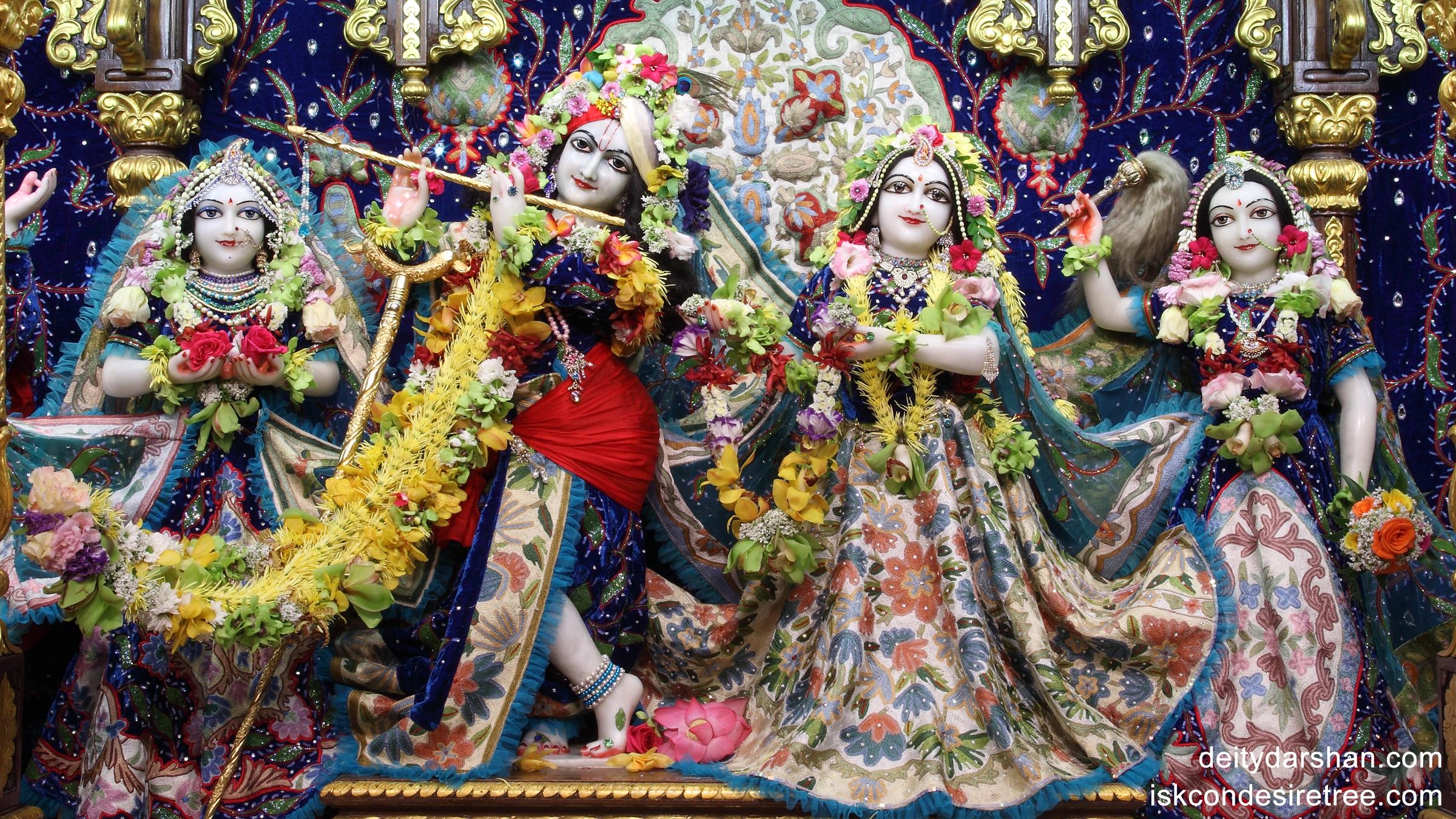 Sri Sri Radha Gopinath Lalita Vishakha Wallpaper (018) Size 2400x1350 Download