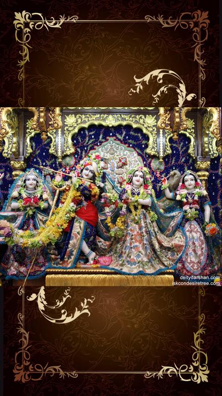 Sri Sri Radha Gopinath Lalita Vishakha Wallpaper (018) Size 450x800 Download
