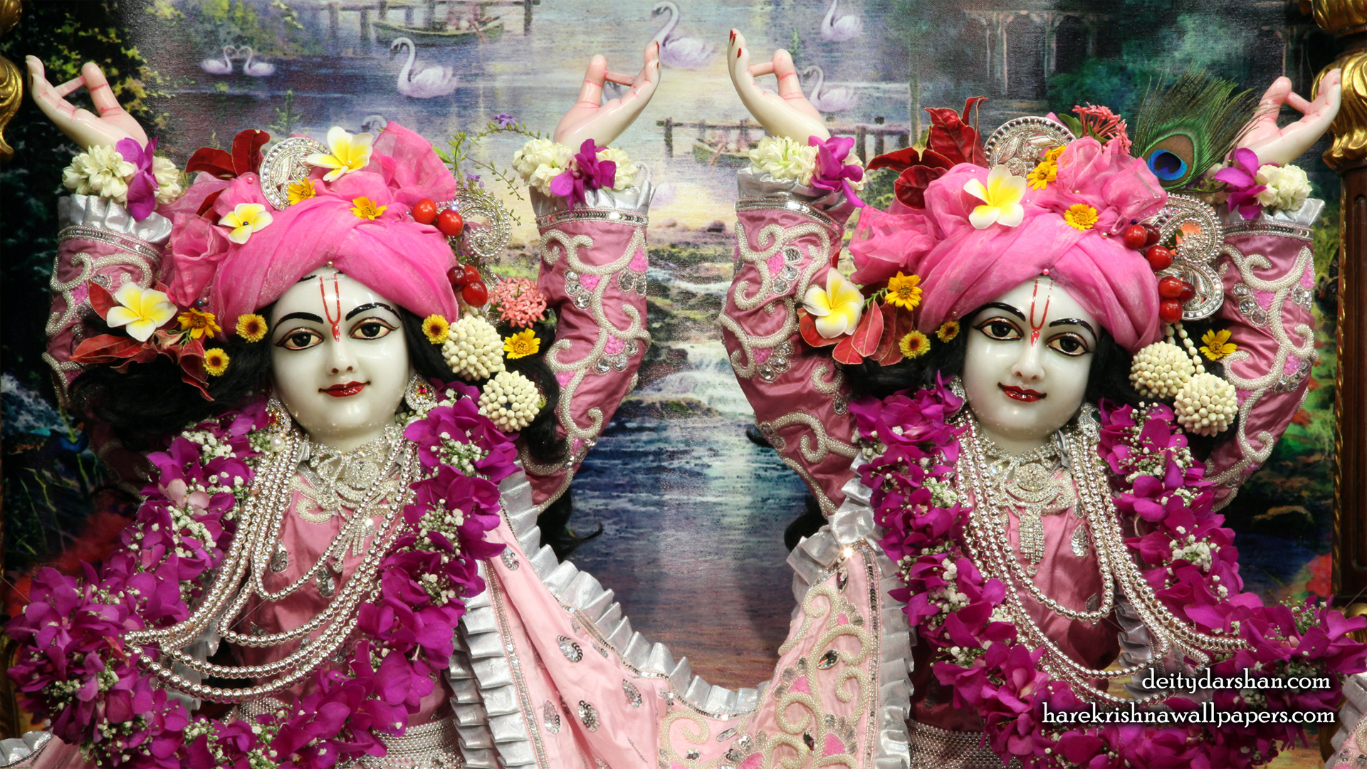 Sri Sri Nitai Gaurachandra Close up Wallpaer (019) Size 1920x1080 Download