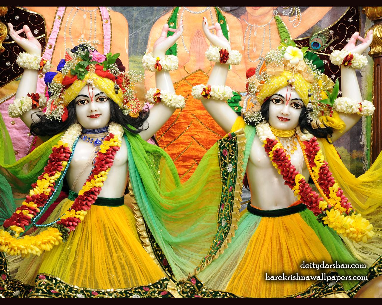 Sri Sri Nitai Gaurachandra Close up Wallpaer (020) Size 1280x1024 Download