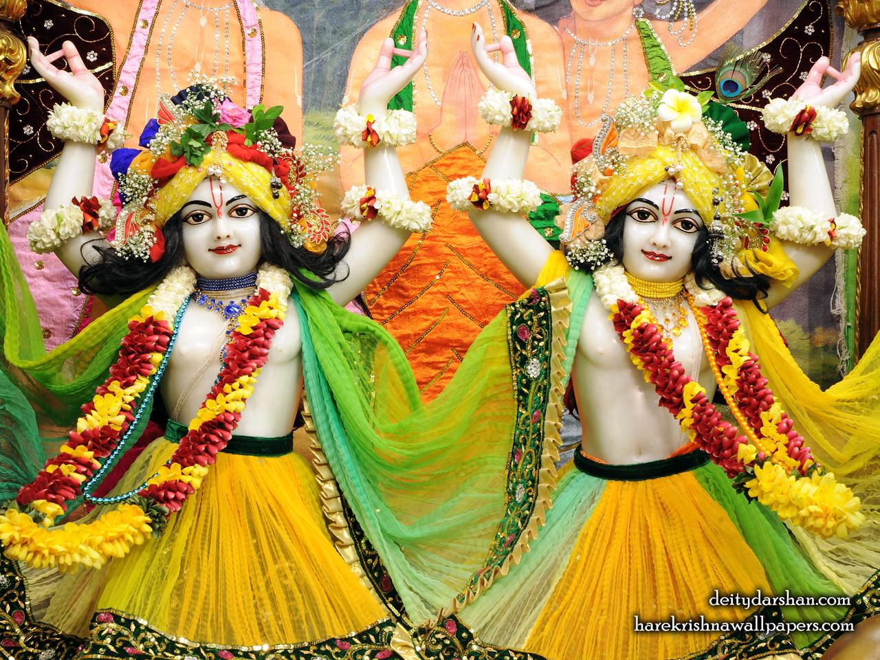 Sri Sri Nitai Gaurachandra Close up Wallpaer (020) Size 1280x960 Download