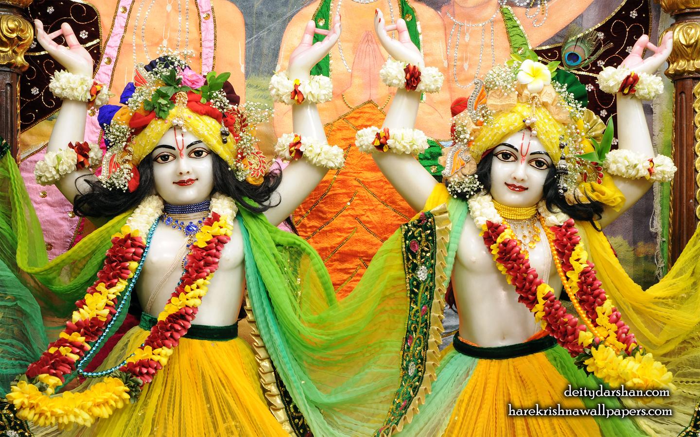 Sri Sri Nitai Gaurachandra Close up Wallpaer (020) Size 1440x900 Download