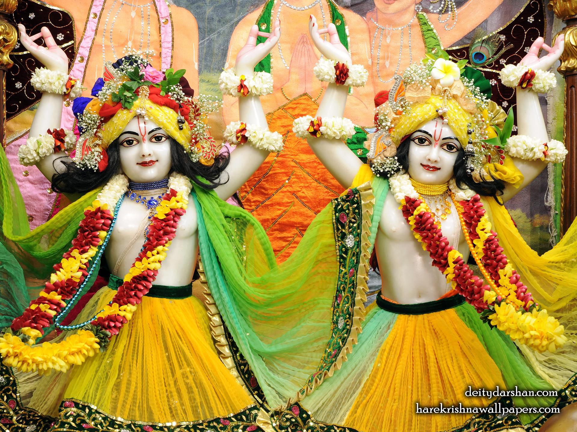 Sri Sri Nitai Gaurachandra Close up Wallpaer (020) Size 1920x1440 Download