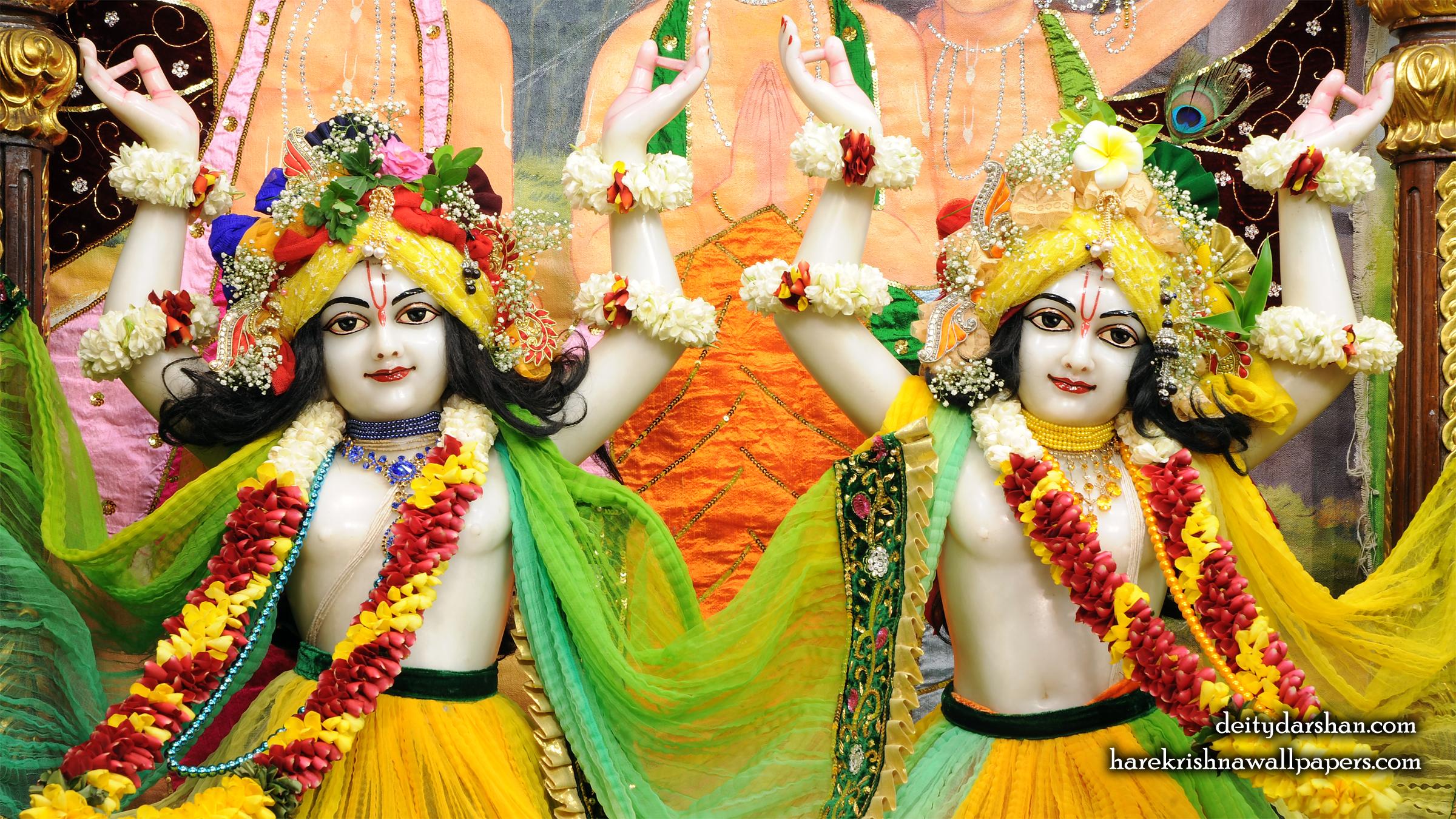 Sri Sri Nitai Gaurachandra Close up Wallpaer (020) Size 2400x1350 Download
