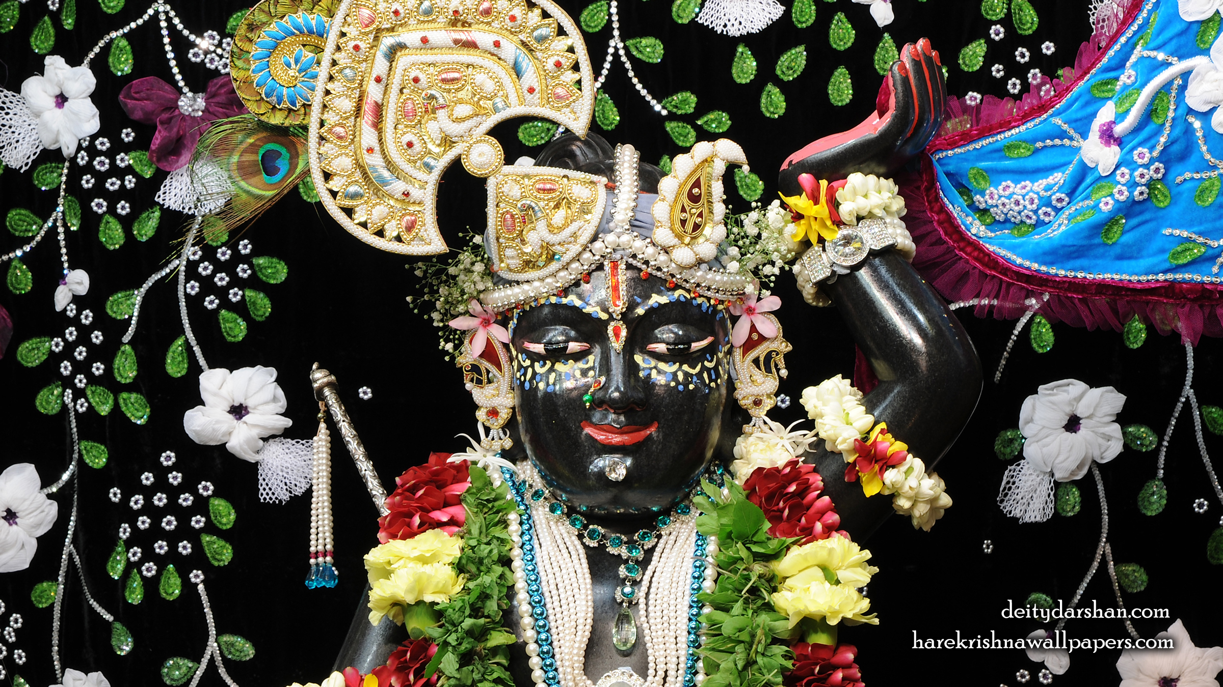 Sri Gopal Close up Wallpaper (021) Size 2400x1350 Download