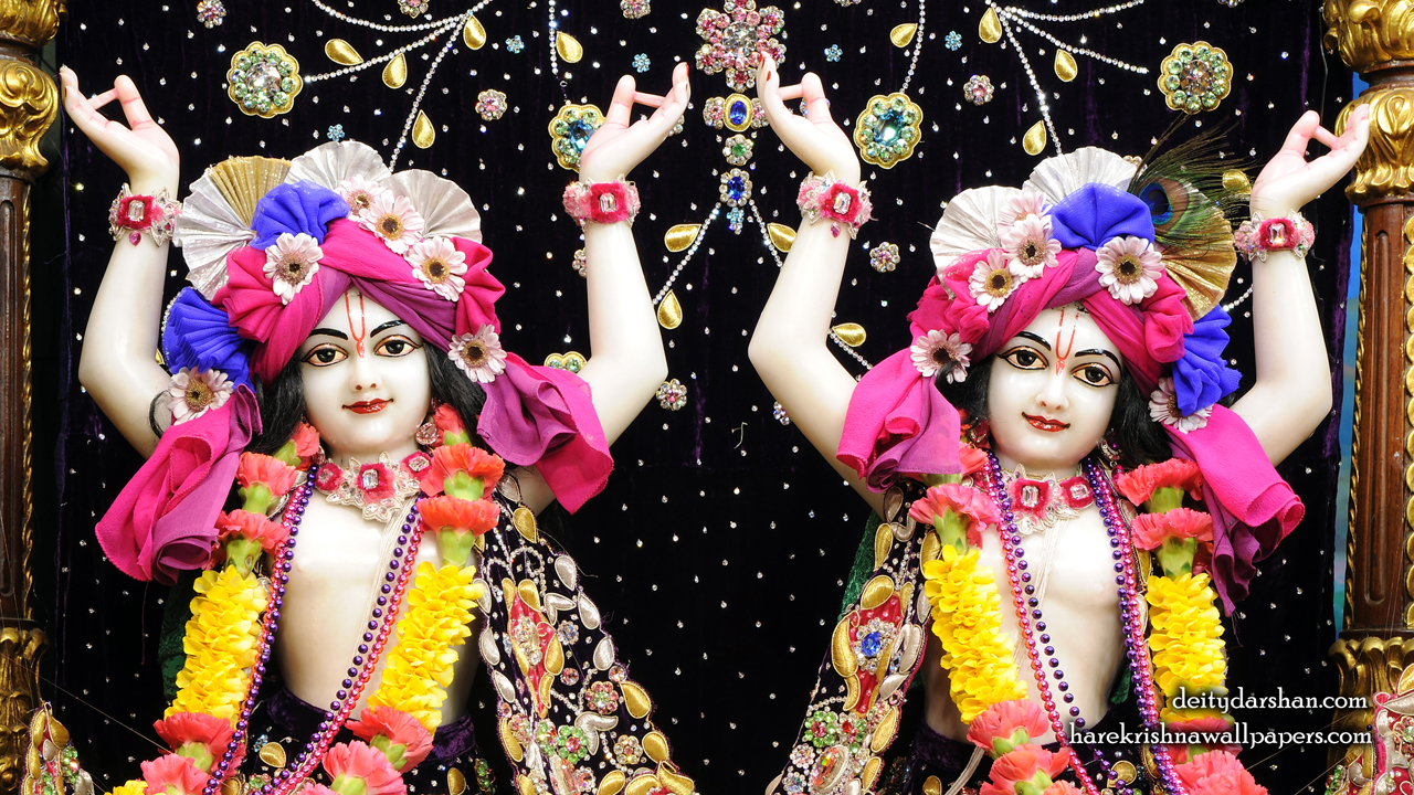 Sri Sri Nitai Gaurachandra Close up Wallpaer (021) Size1280x720 Download