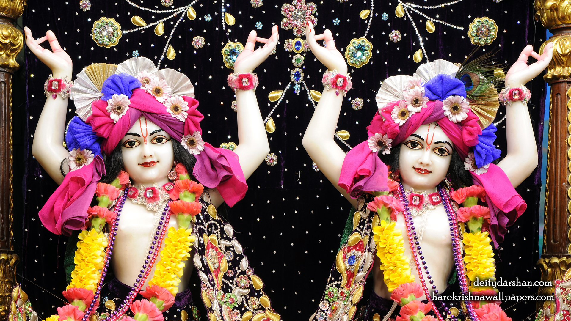 Sri Sri Nitai Gaurachandra Close up Wallpaer (021) Size 1920x1080 Download