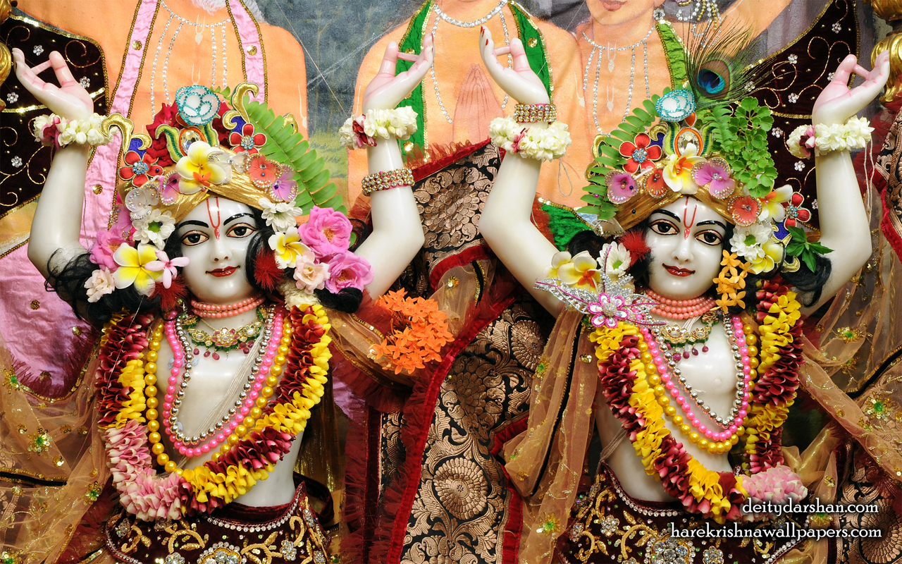 Sri Sri Nitai Gaurachandra Close up Wallpaer (022) Size 1280x800 Download