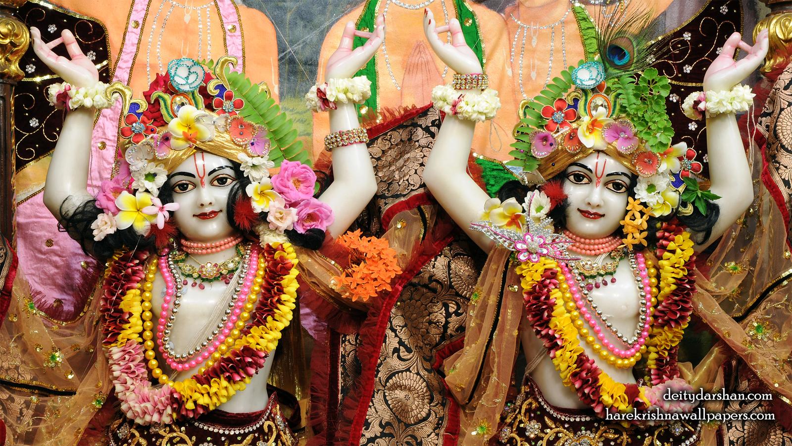 Sri Sri Nitai Gaurachandra Close up Wallpaer (022) Size 1600x900 Download